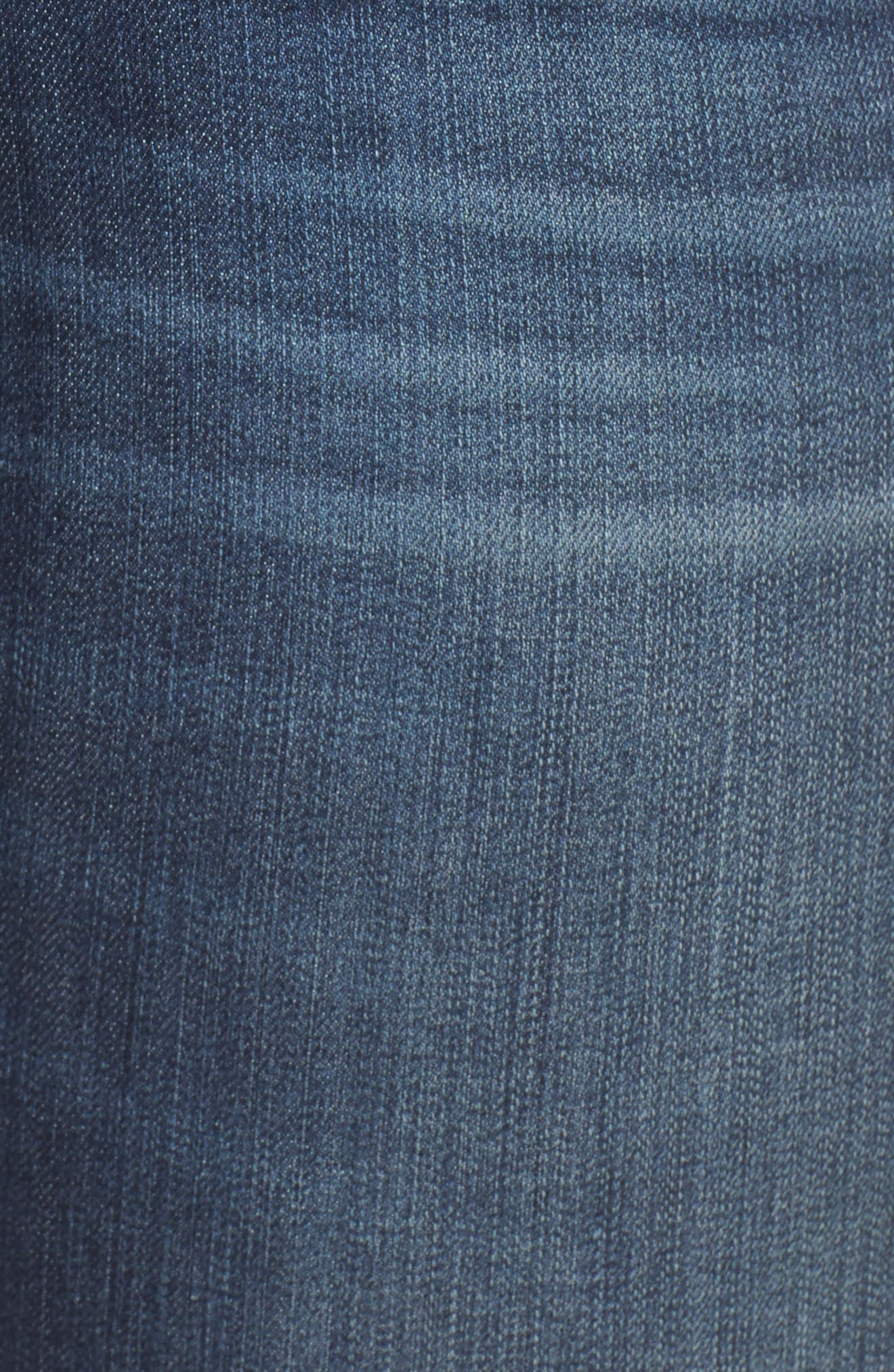 Reese Side Stripe Uneven Ankle Jeans,                             Alternate thumbnail 5, color,                             ANALYZED