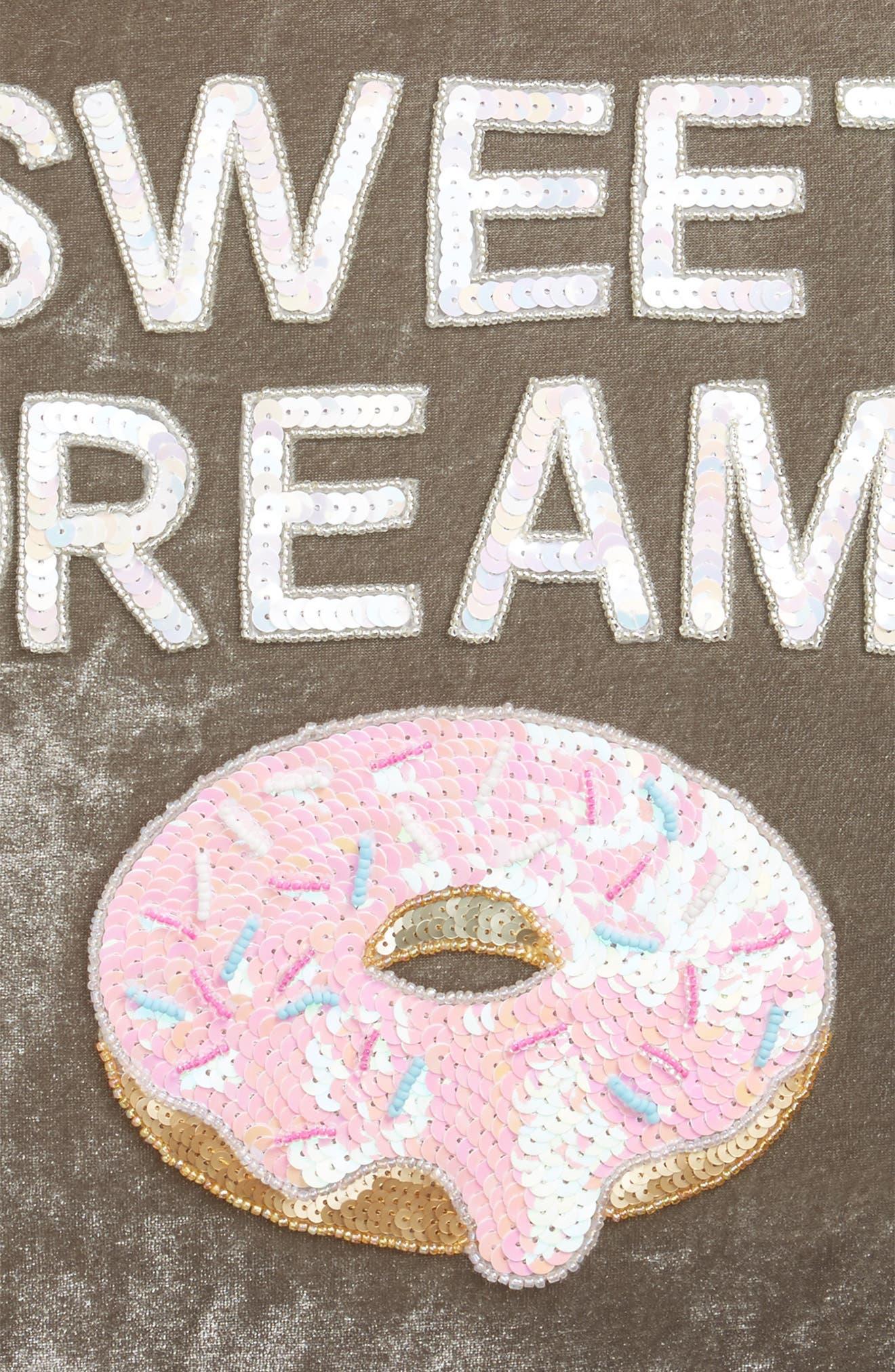 Sweet Dreams Velvet Pillow,                             Alternate thumbnail 3, color,                             020