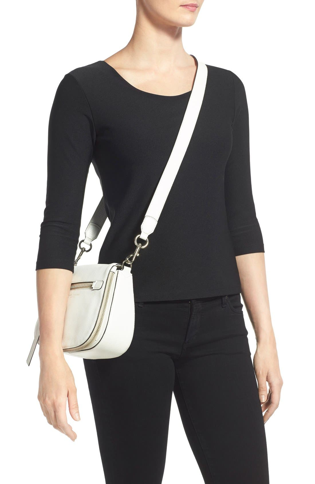Small Recruit Nomad Pebbled Leather Crossbody Bag,                             Alternate thumbnail 28, color,