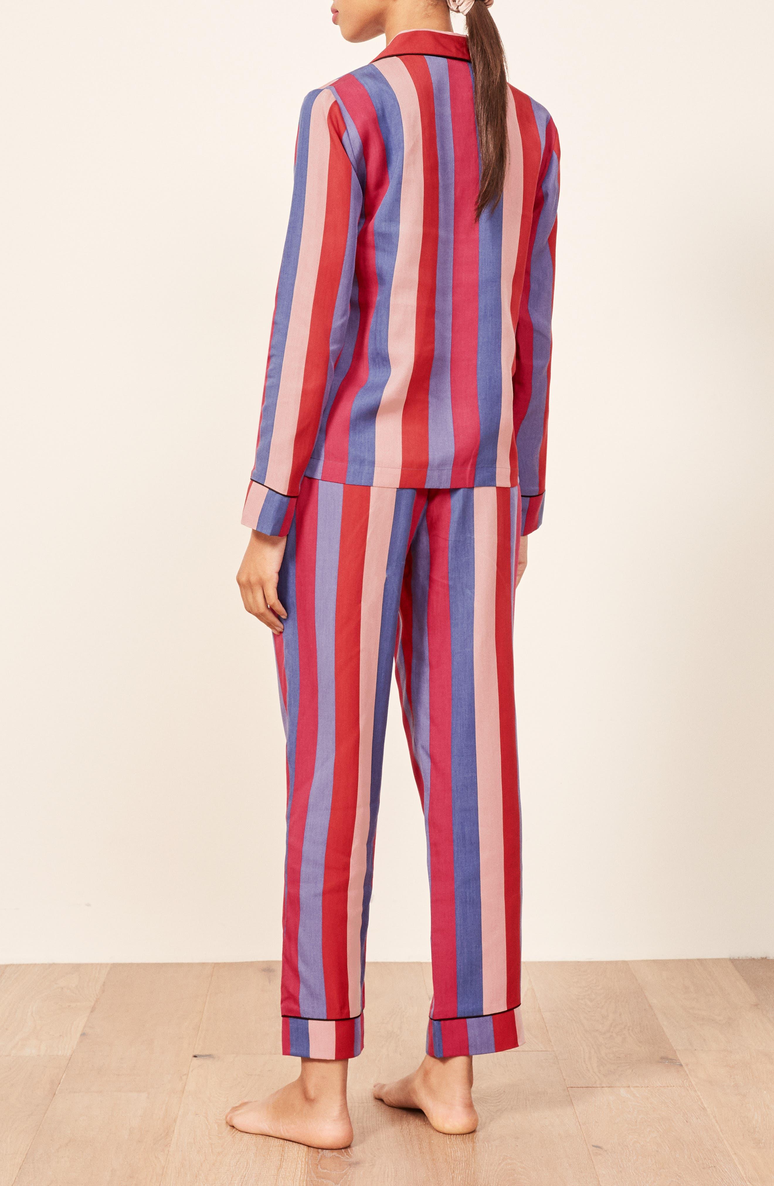 Stripe Pajamas,                             Alternate thumbnail 3, color,                             DISCO STRIPE