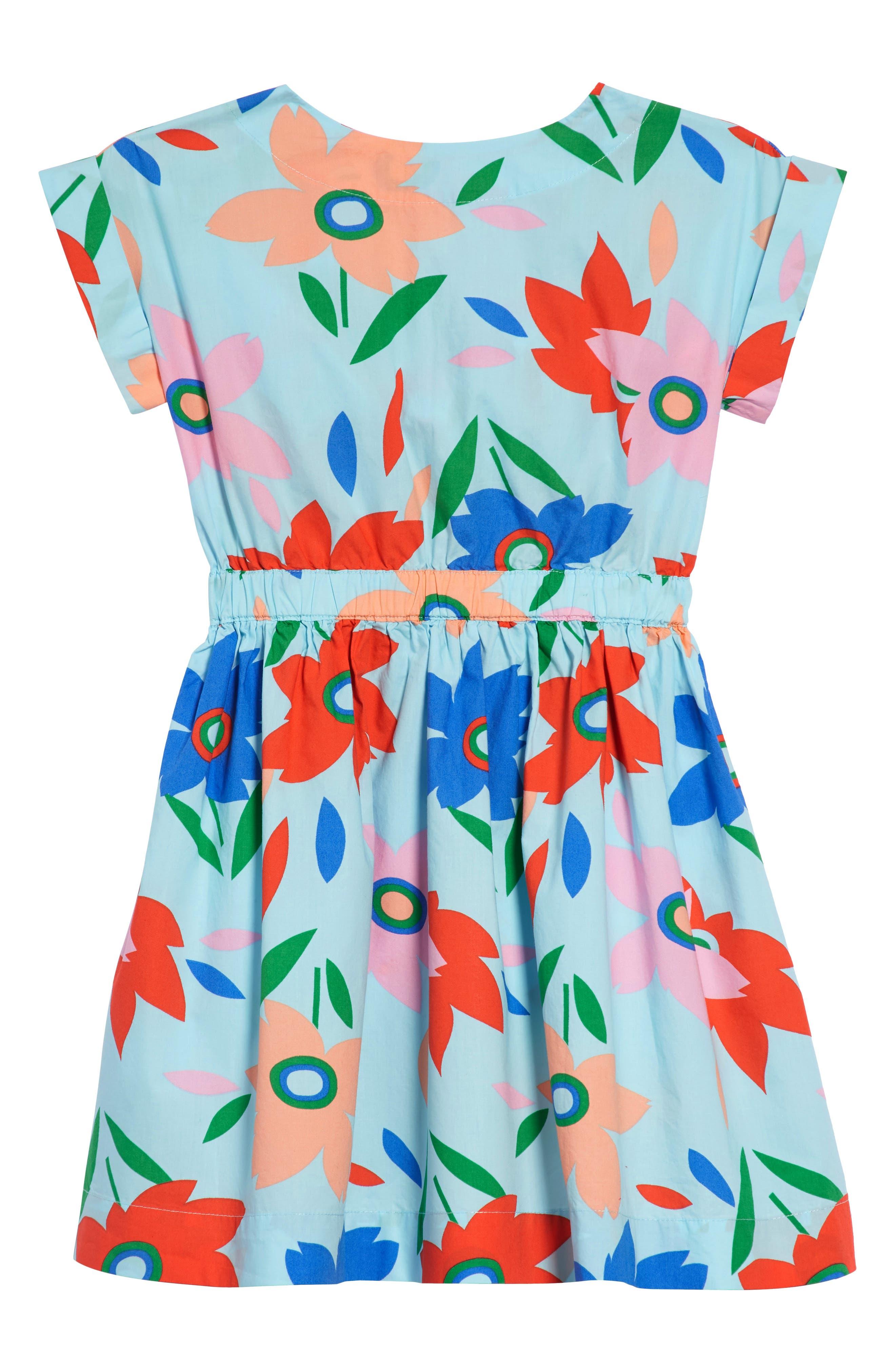 Pia Floral Dress,                         Main,                         color, SOFT AQUA WQ5310