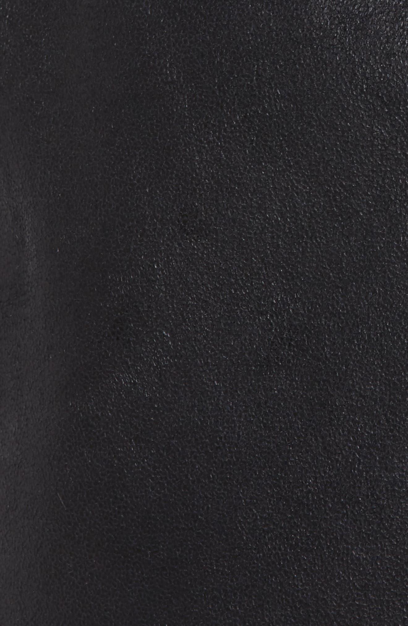 Bosworth Faux Shearling Jacket,                             Alternate thumbnail 6, color,                             001