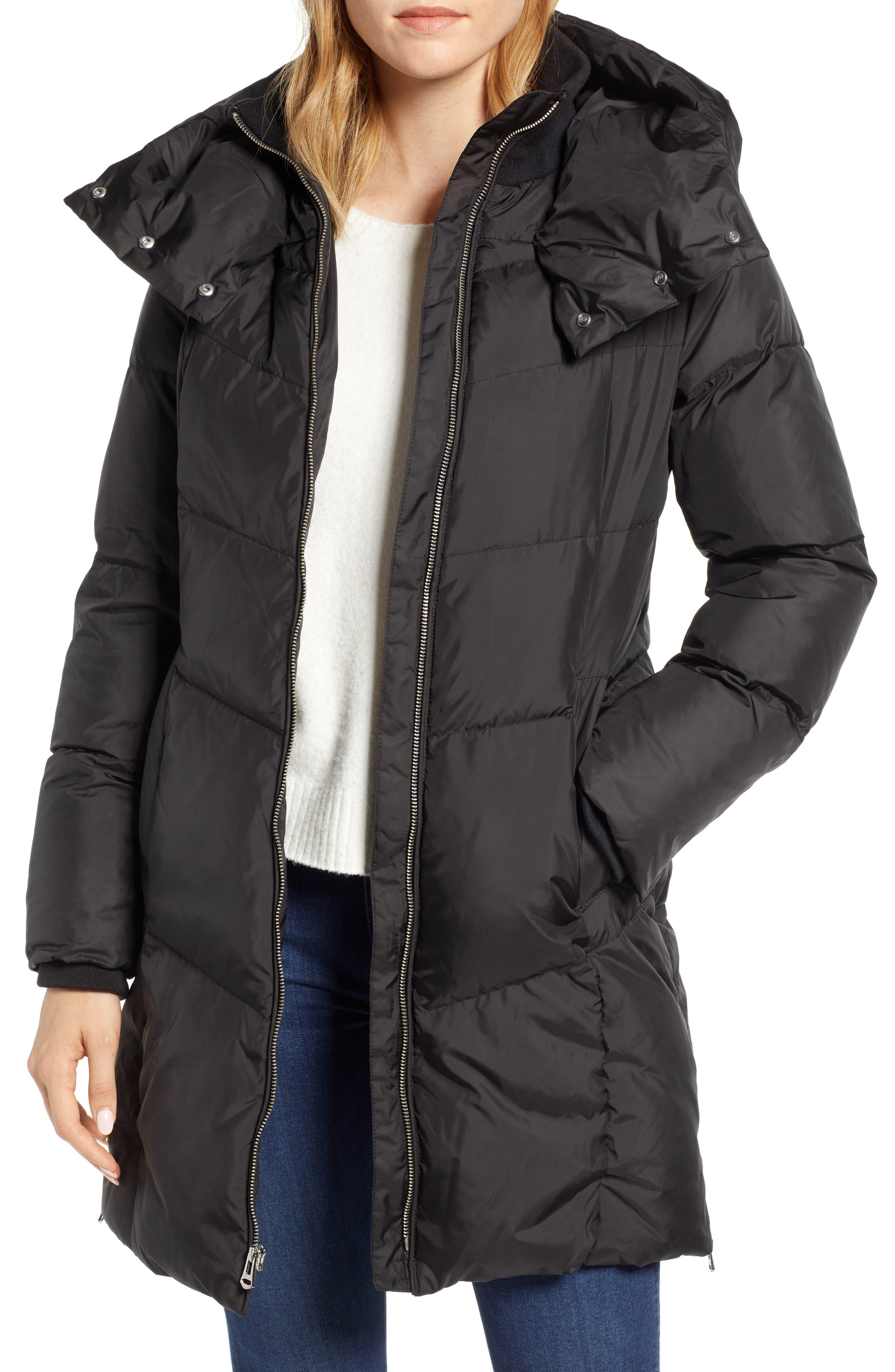 Essential Puffer Coat,                             Main thumbnail 1, color,                             BLACK