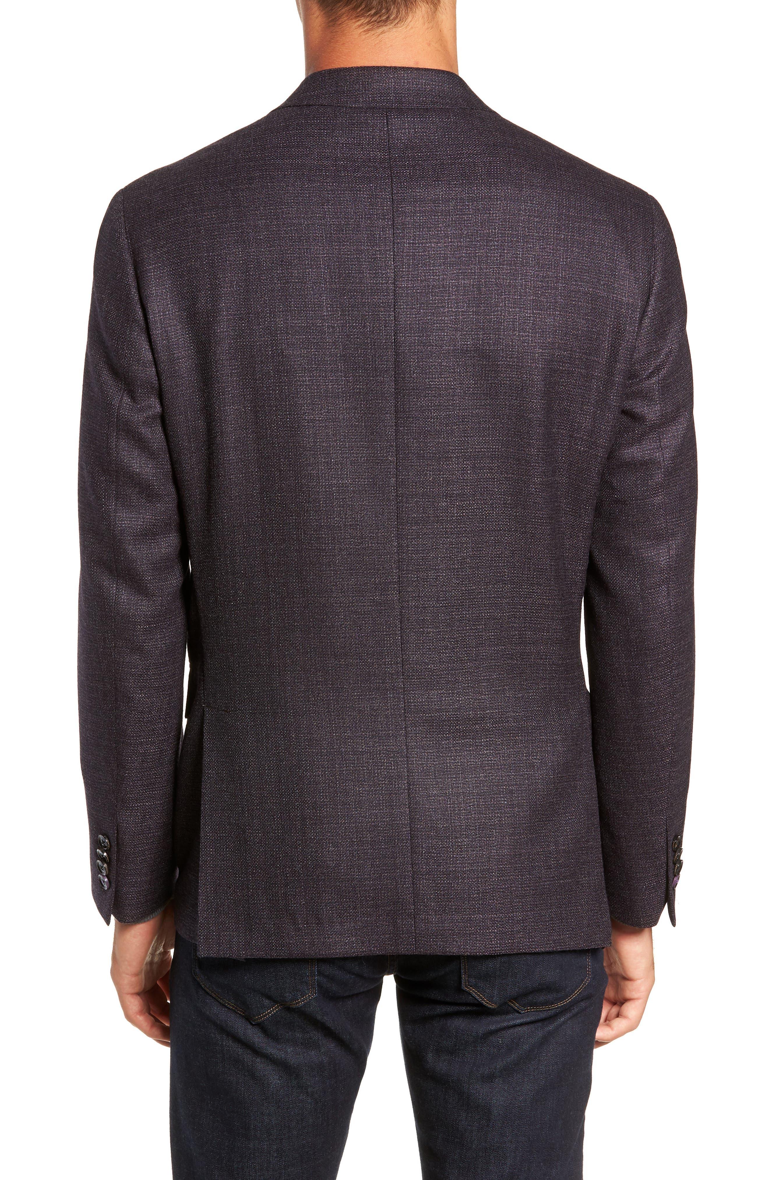 Konan 2B Trim Fit Wool Blazer,                             Alternate thumbnail 2, color,                             PLUM