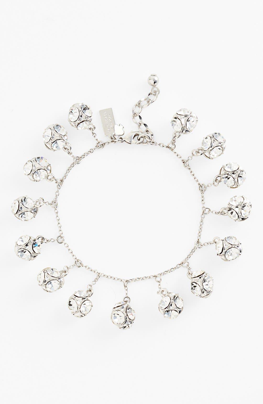KATE SPADE NEW YORK mini charm bracelet, Main, color, 040