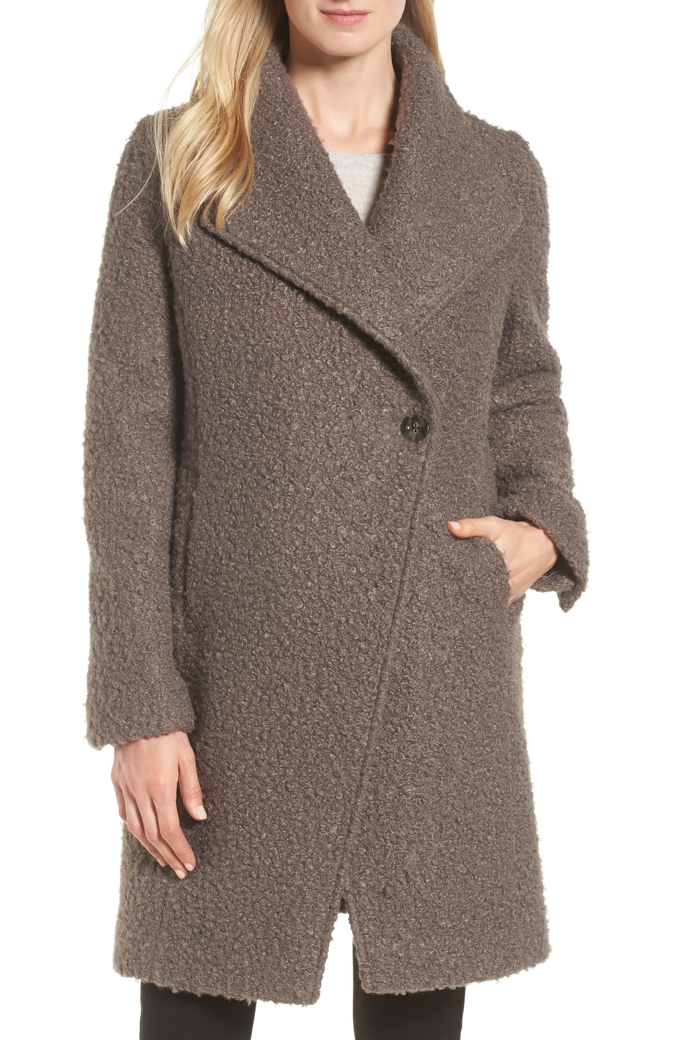Sheila Bouclé Knit Coat,                             Main thumbnail 1, color,                             087