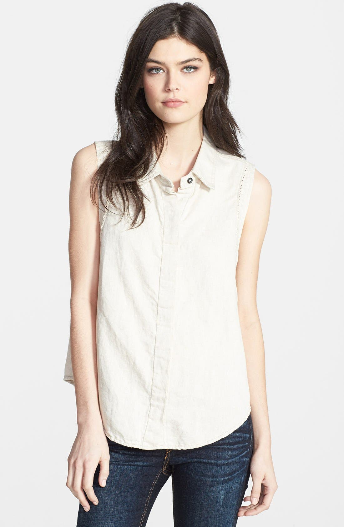 RAG & BONE,                             JEAN 'Tent' Collared Tank,                             Main thumbnail 1, color,                             900