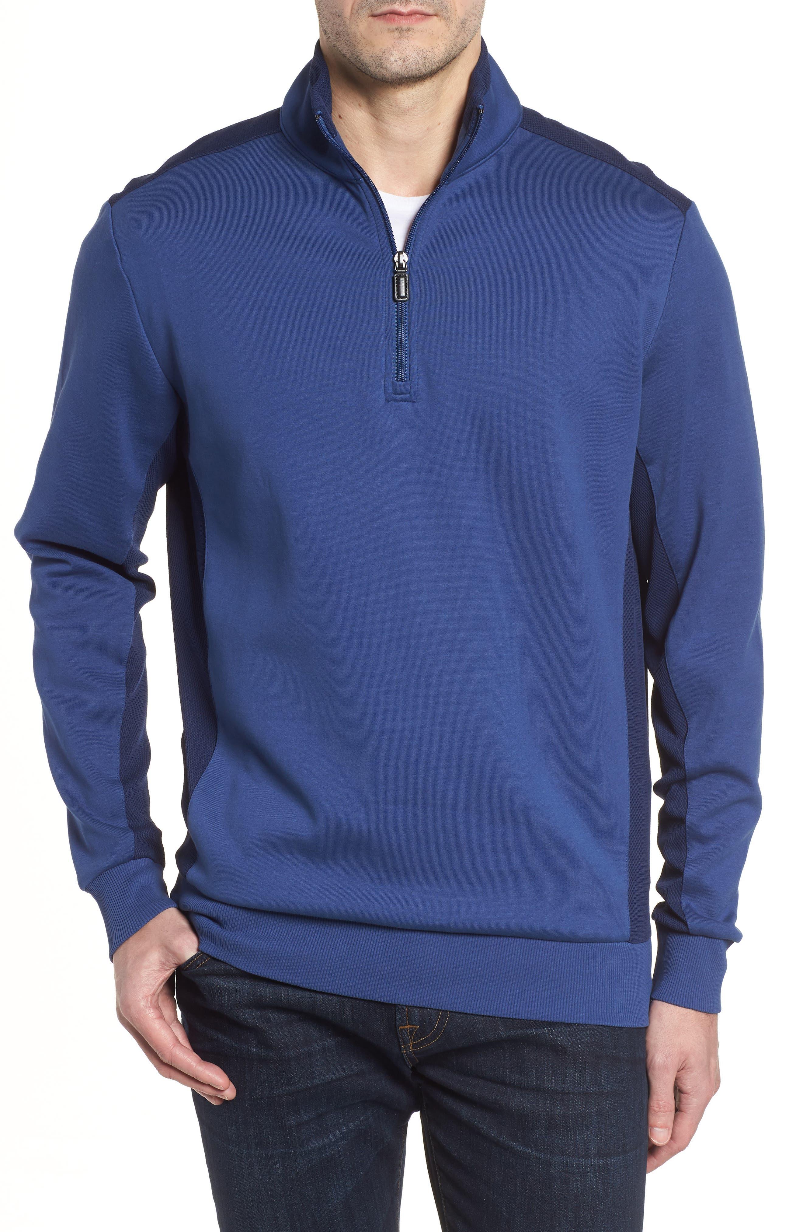 Regular Fit Knit Quarter Zip Pullover,                             Main thumbnail 2, color,