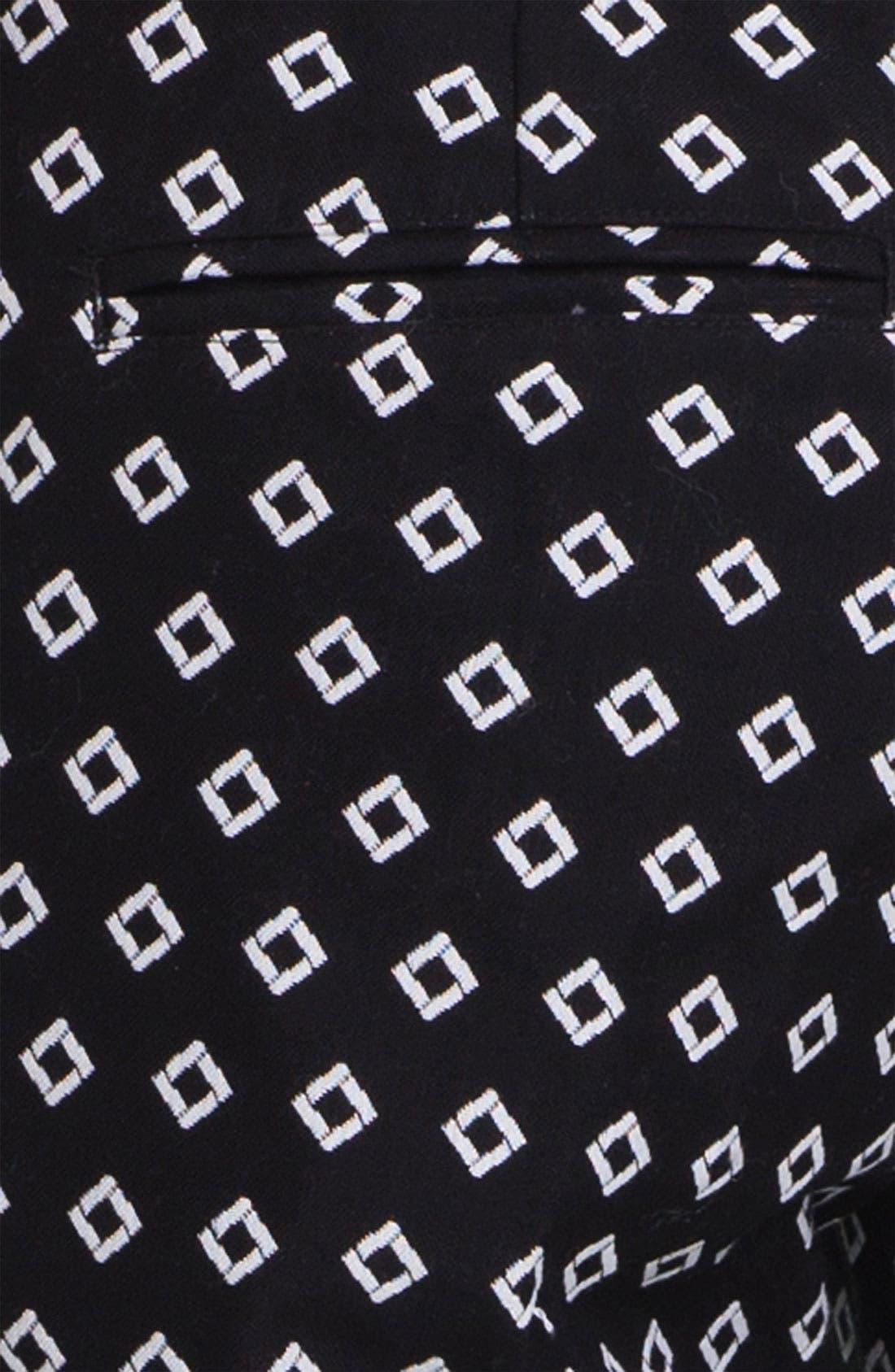 Diamond Jacquard Bermuda Shorts,                             Alternate thumbnail 3, color,                             001