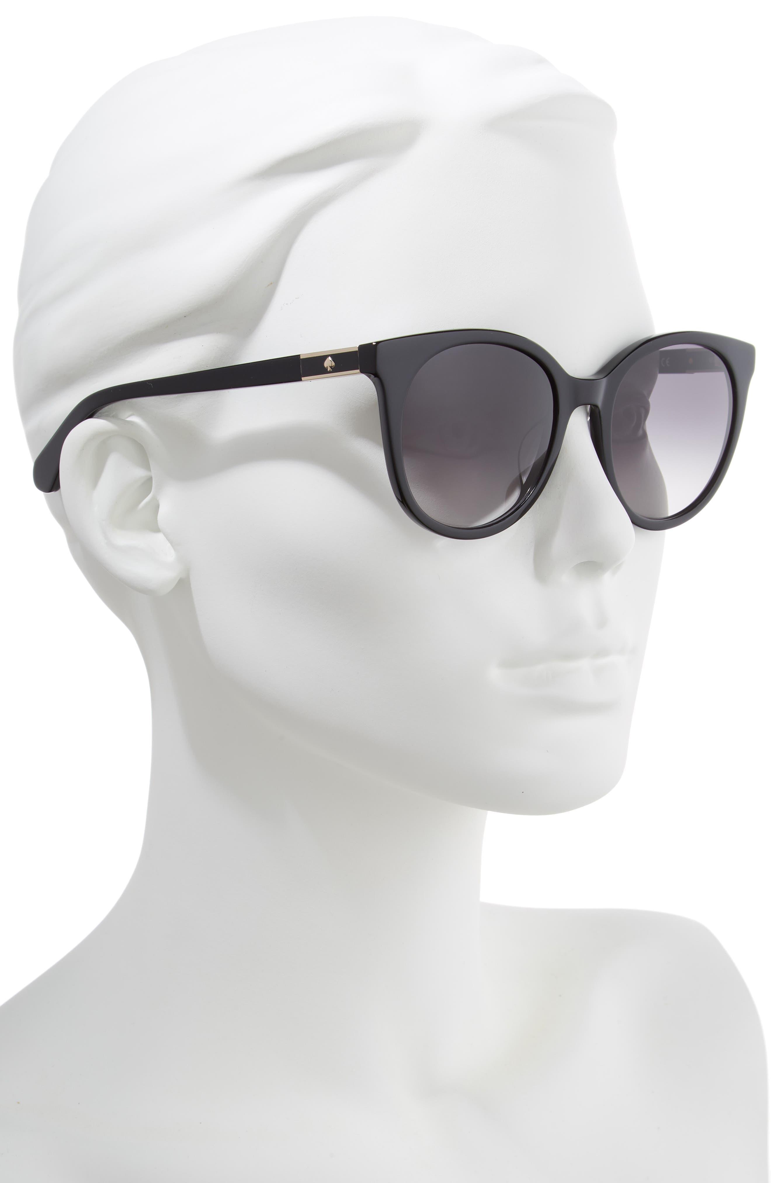 akayla 52mm cat eye sunglasses,                             Alternate thumbnail 2, color,                             BLACK