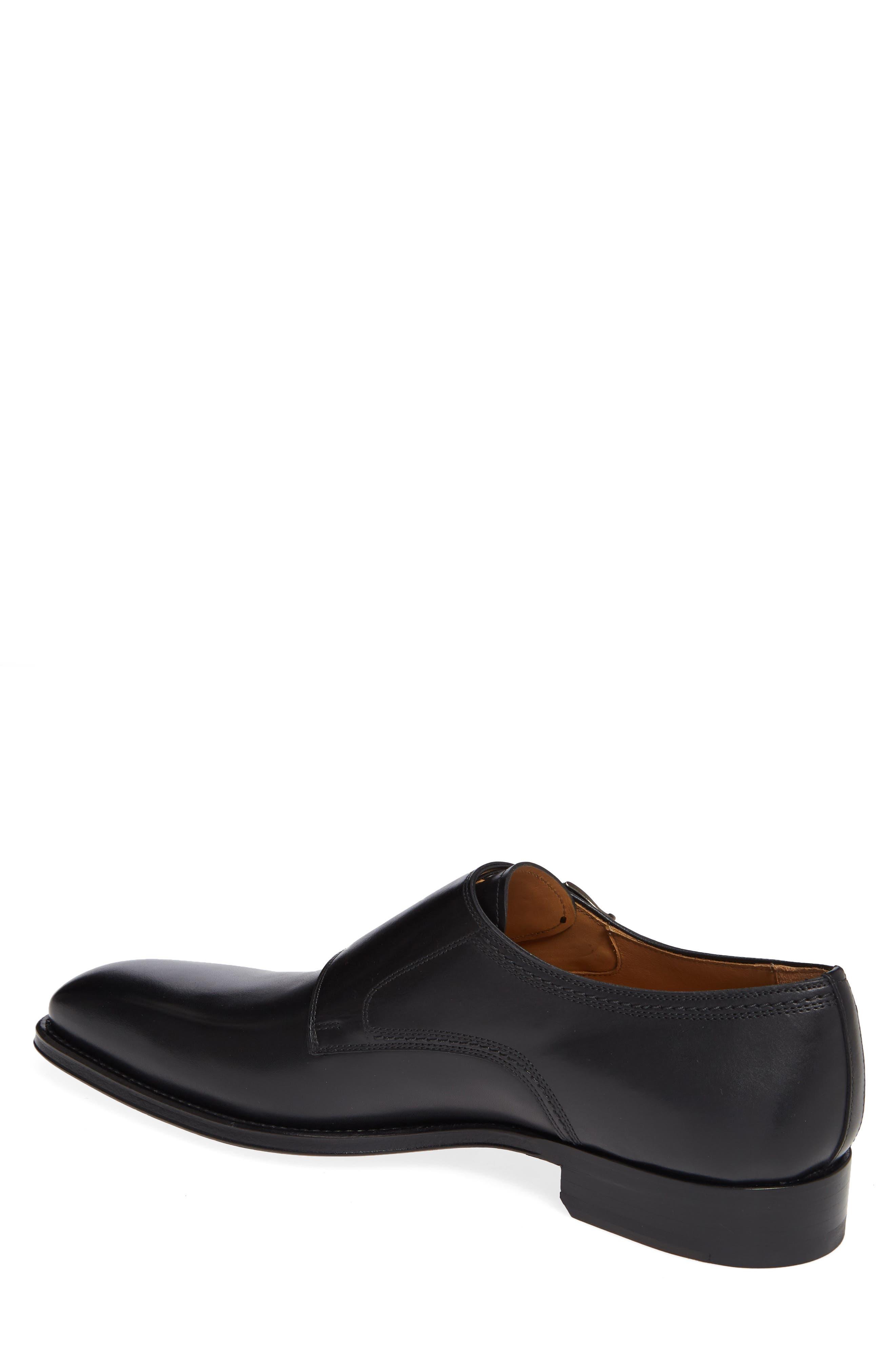 Landon Double Strap Monk Shoe,                             Alternate thumbnail 2, color,                             BLACK LEATHER