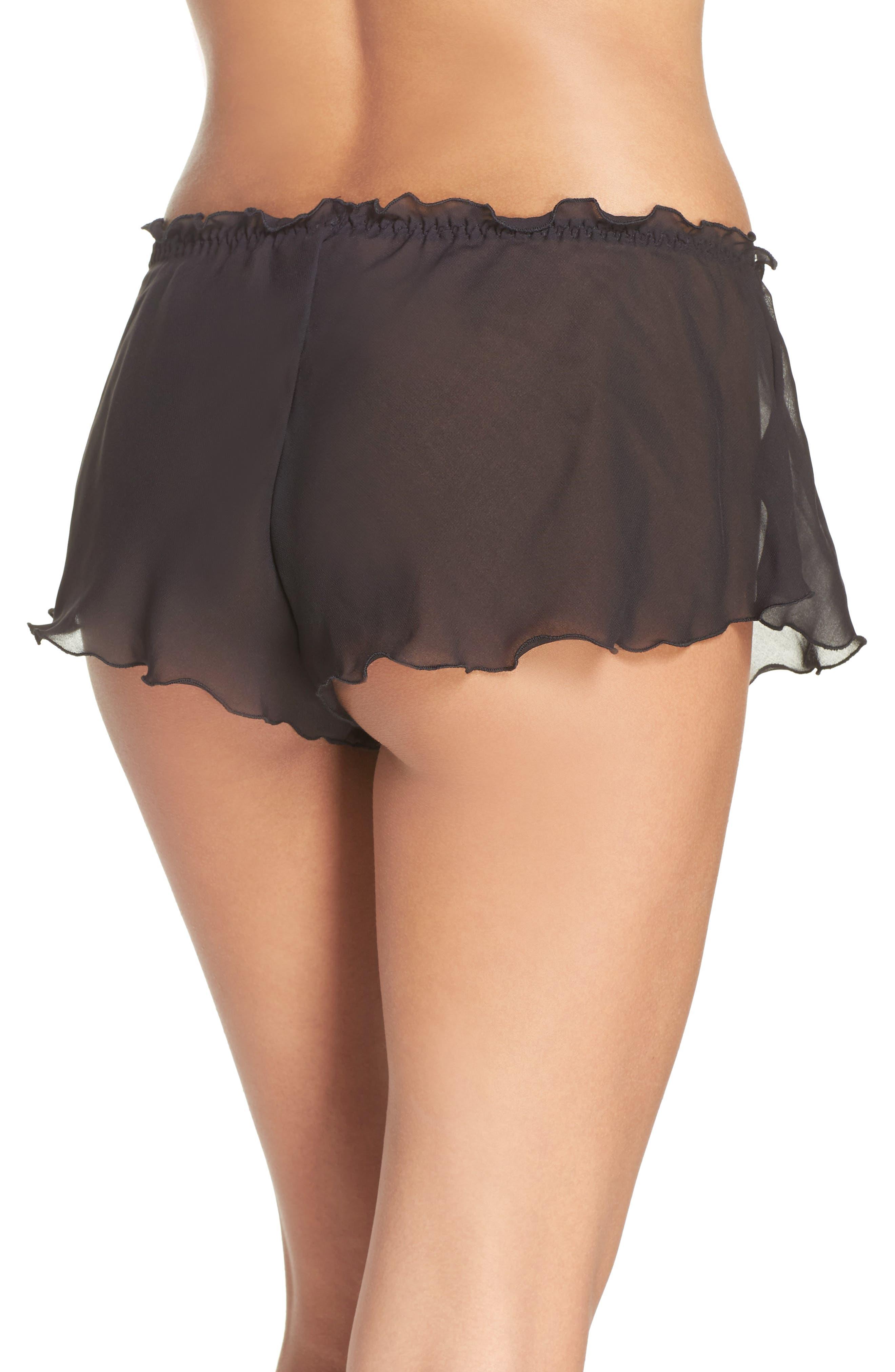 Chiffon Tap Shorts,                             Alternate thumbnail 2, color,                             001