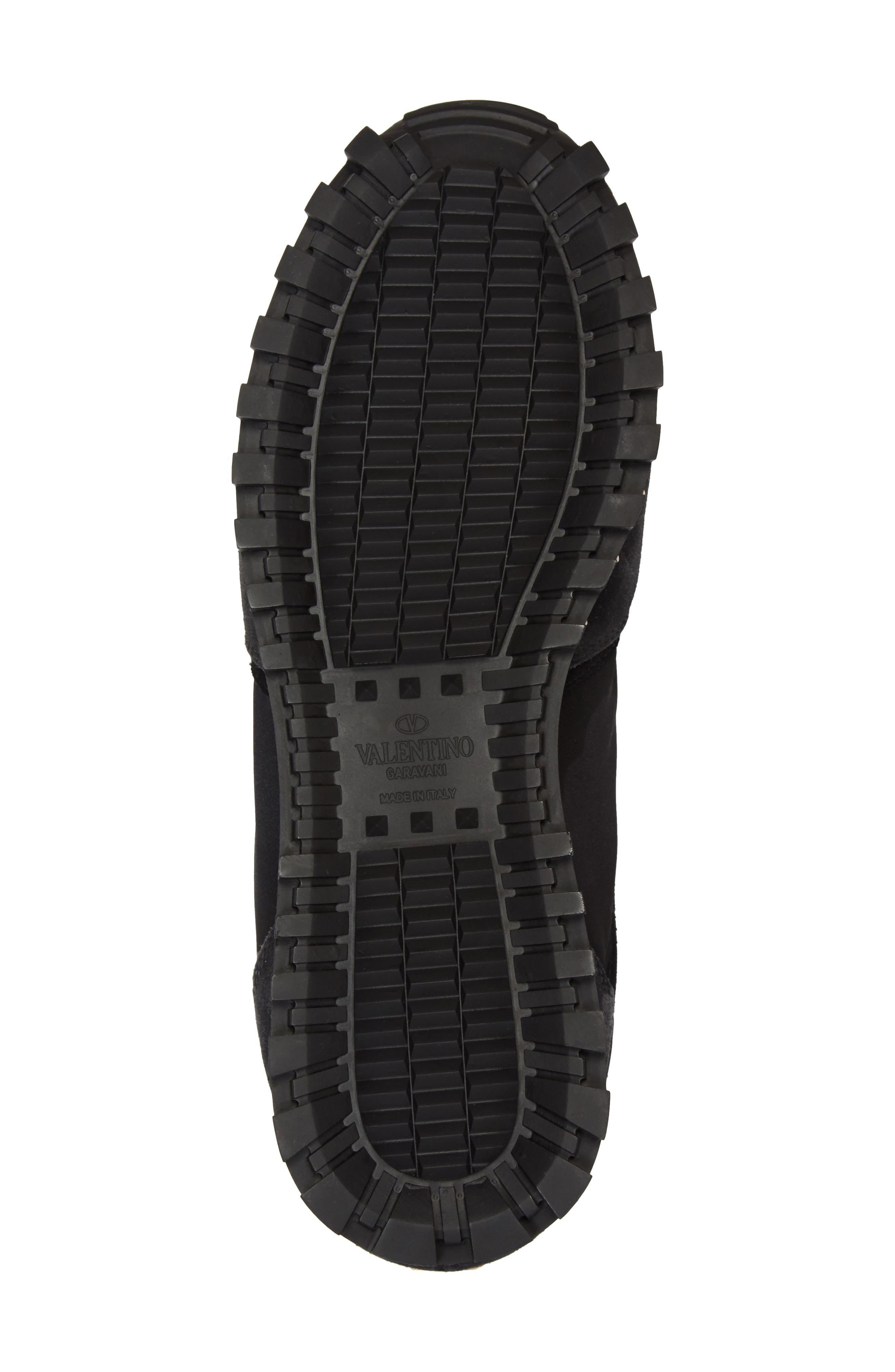 Rockstud Sneaker,                             Alternate thumbnail 6, color,                             BLACK/ GREY