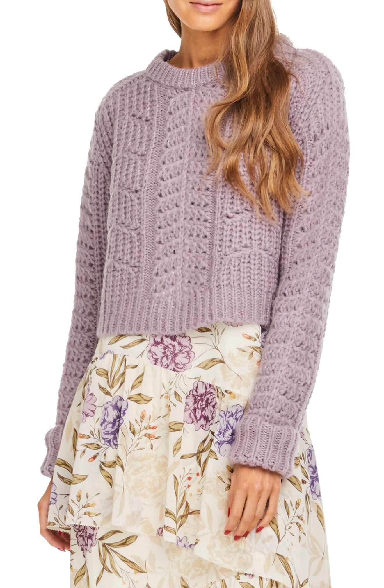 ASTR Georgia Sweater in Lilac