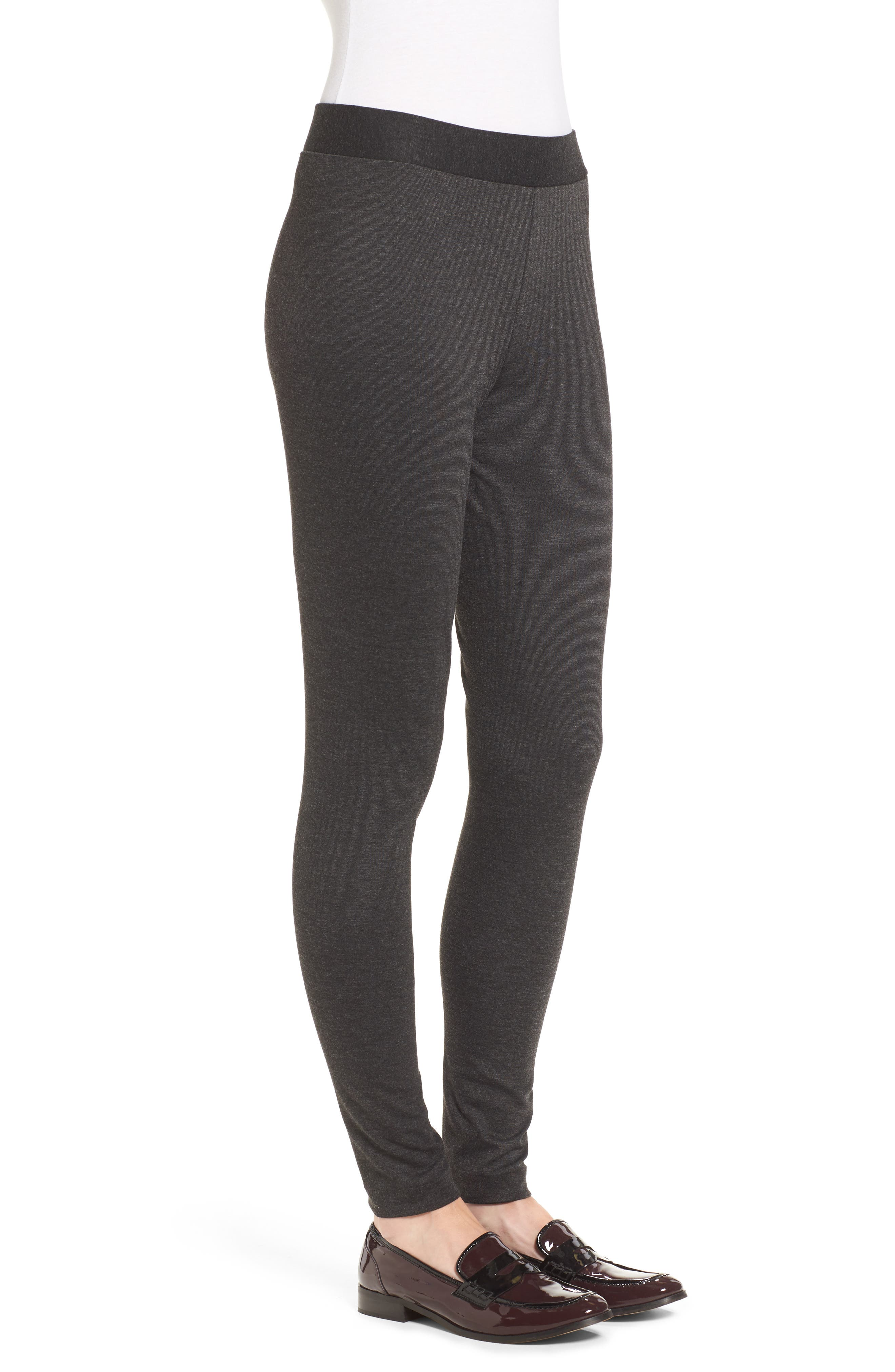 Two by Vince Camuto Seamed Back Leggings,                             Alternate thumbnail 3, color,                             DARK HEATHER GREY