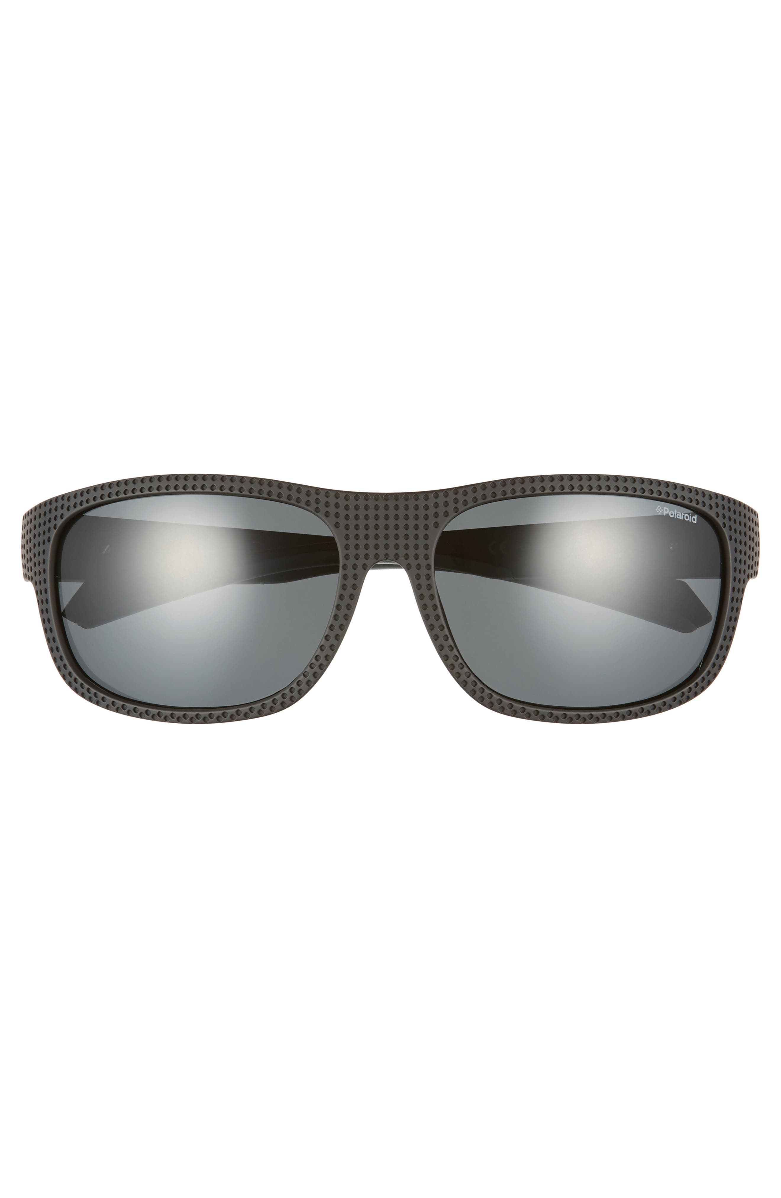 Plastic Wrap 63mm Polarized Sunglasses,                             Alternate thumbnail 2, color,                             BLACK