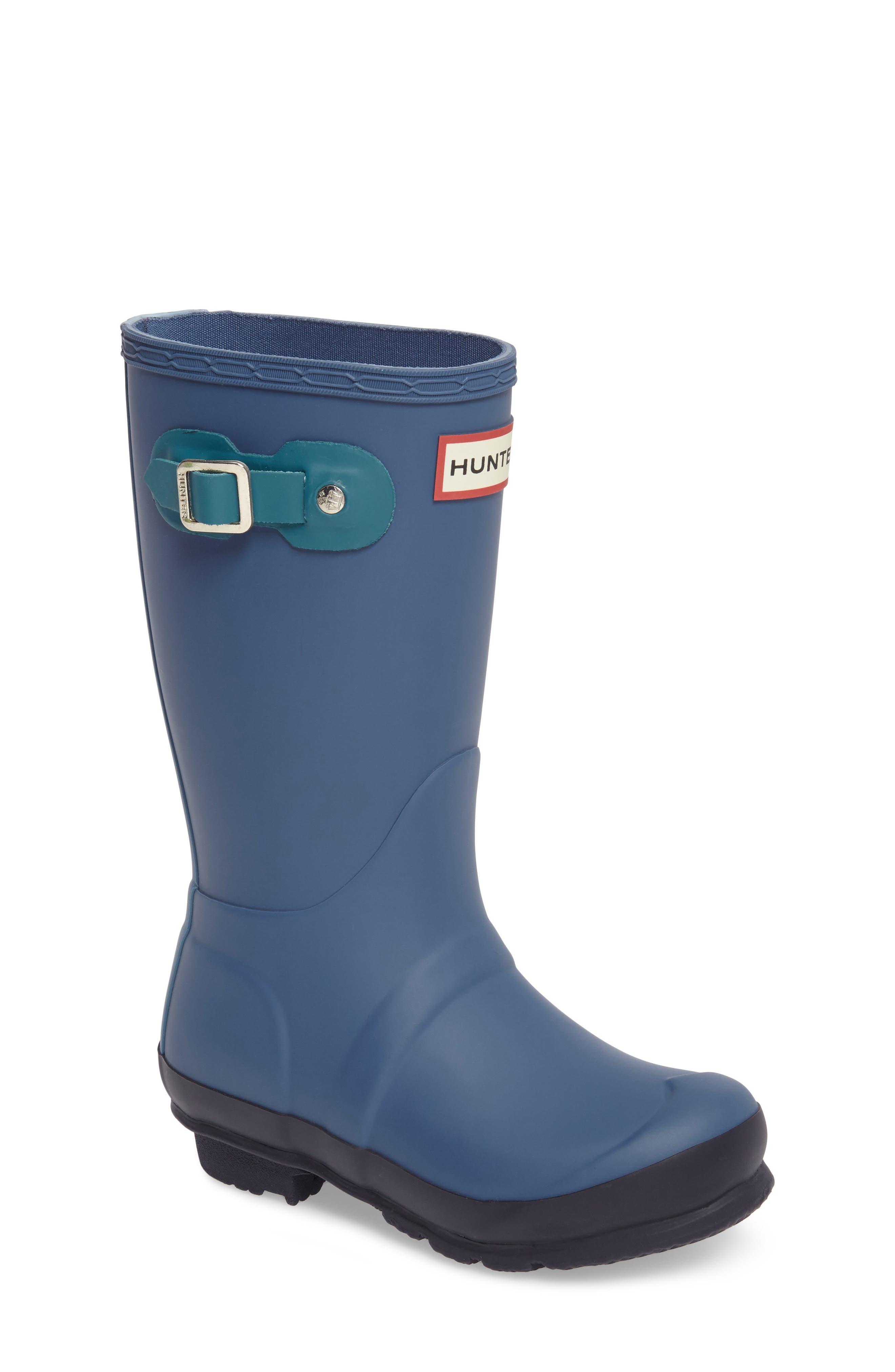 'Original Contrast Sole' Waterproof Rain Boot,                             Main thumbnail 1, color,                             400