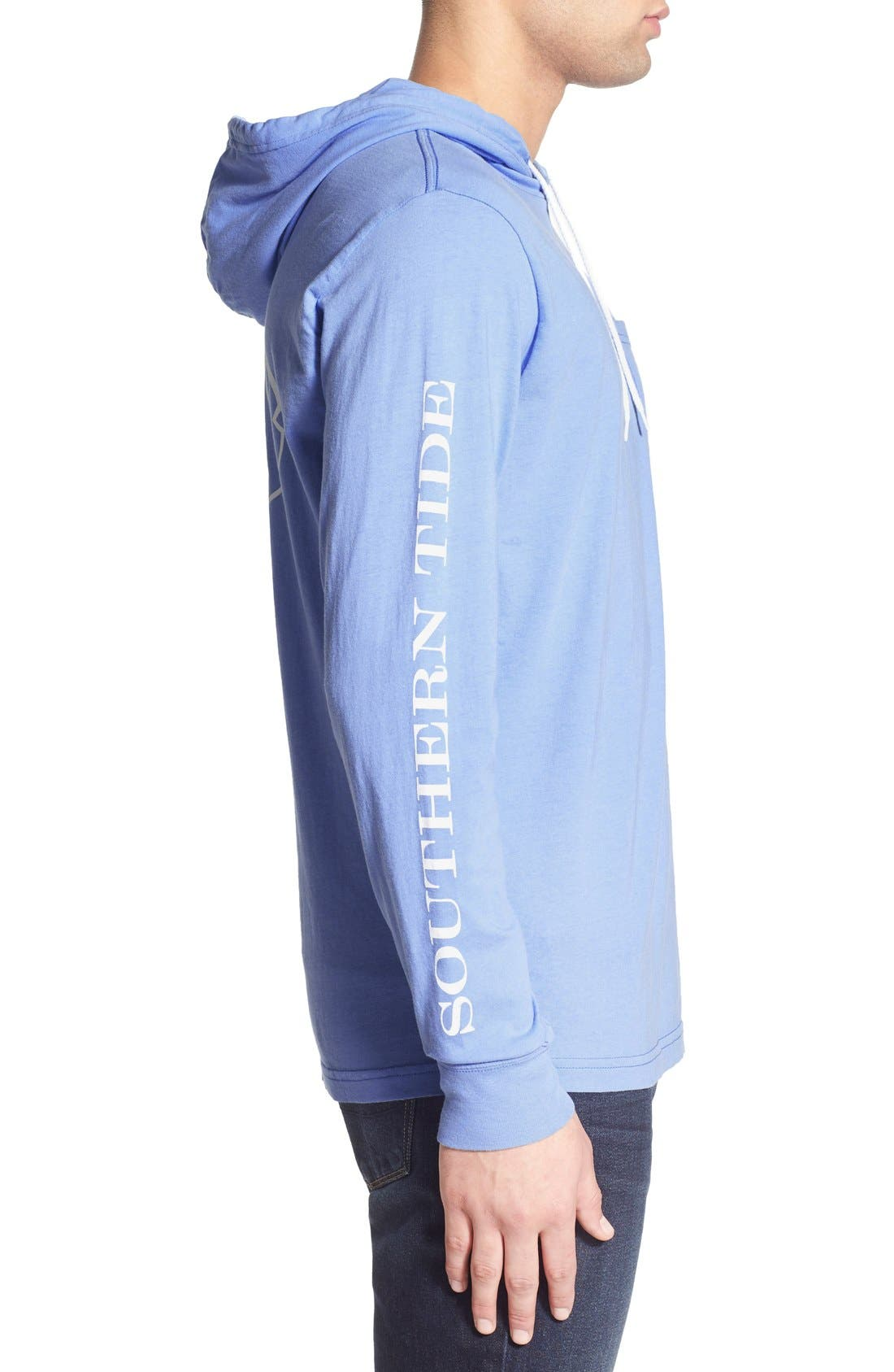 Graphic Hooded Long Sleeve T-Shirt,                             Alternate thumbnail 19, color,