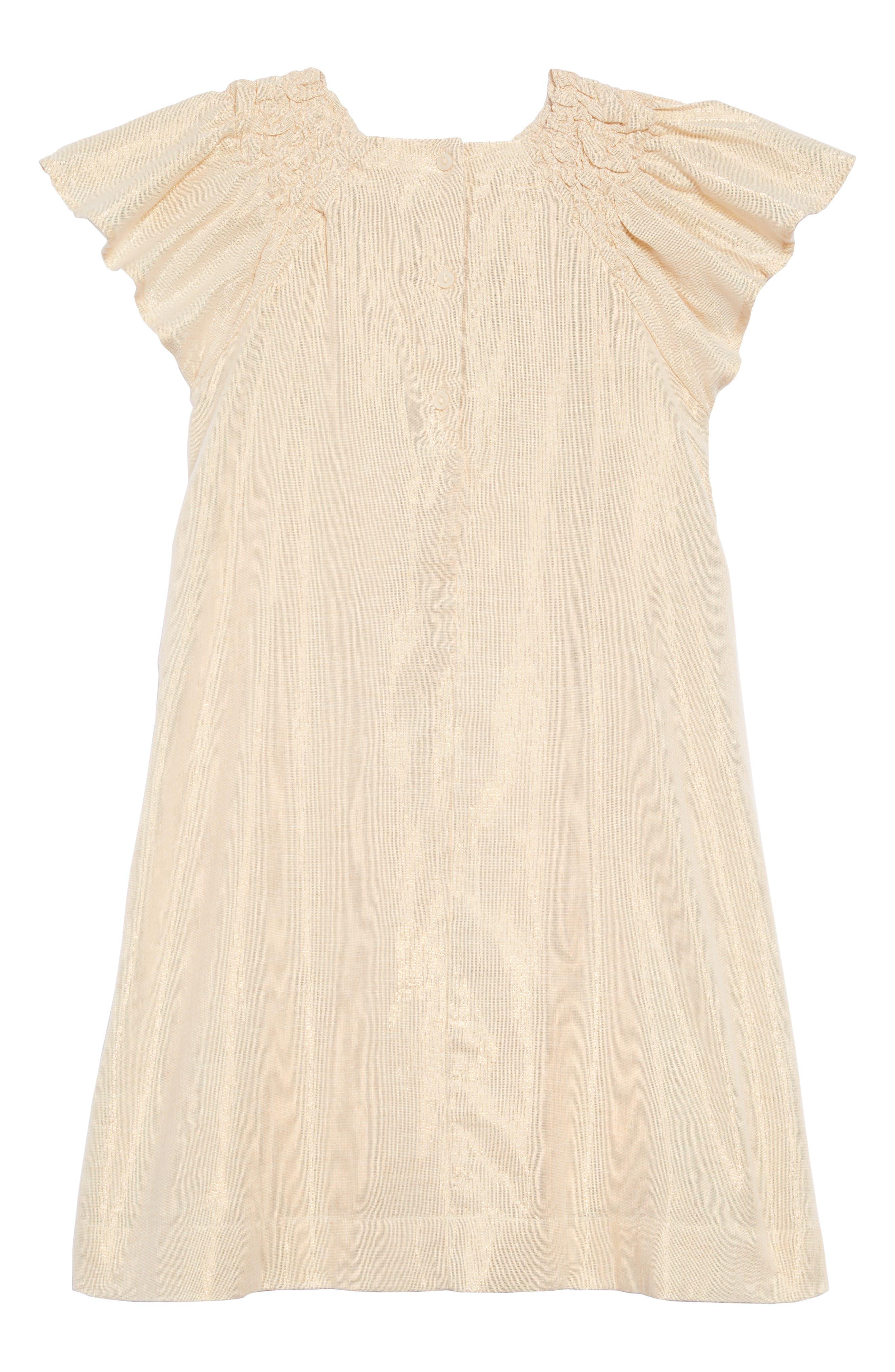 Rosie Sparkle Dress,                             Alternate thumbnail 2, color,                             METALLIC GOLD