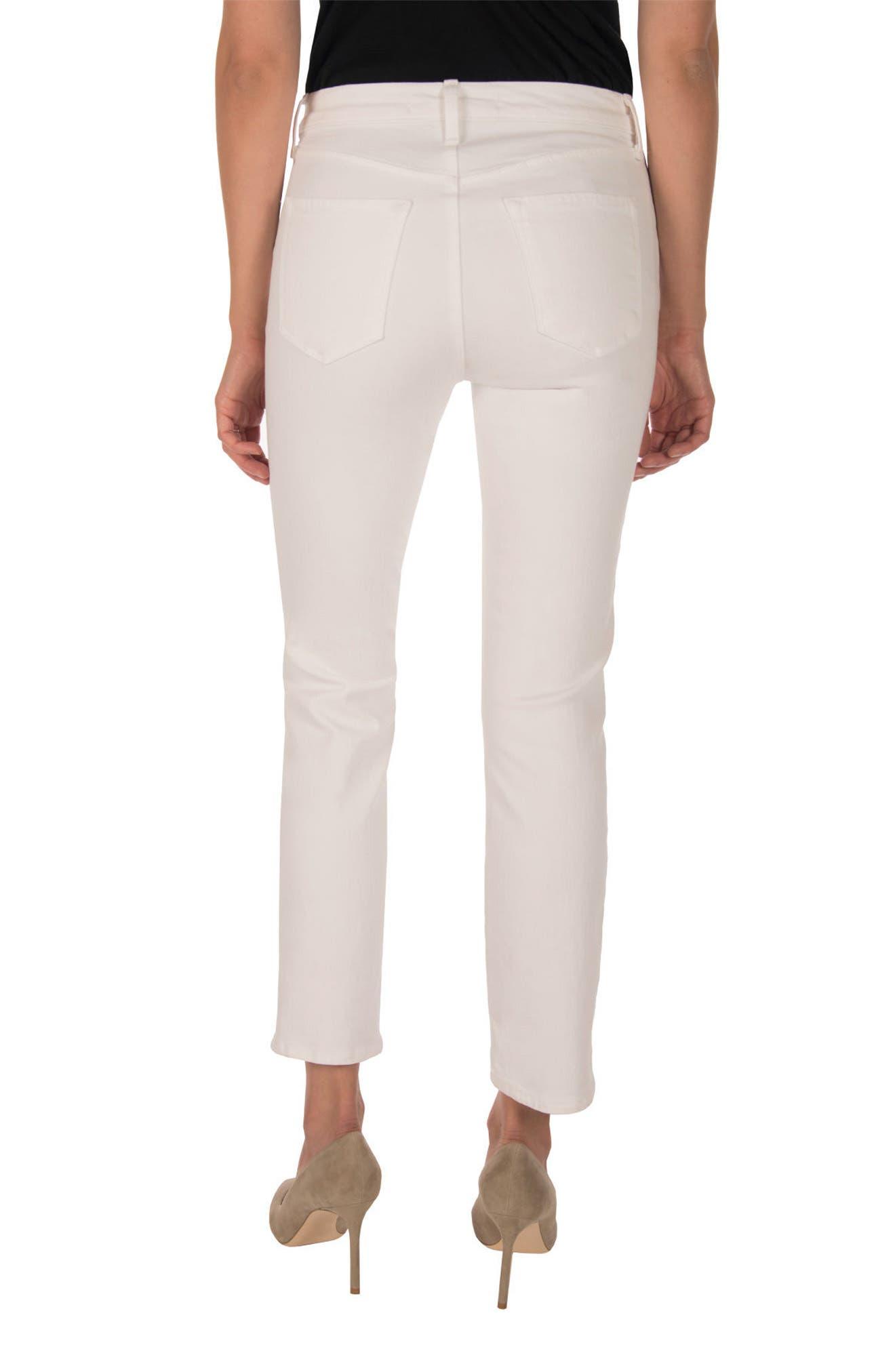 Ruby High Waist Crop Jeans,                             Alternate thumbnail 2, color,                             100