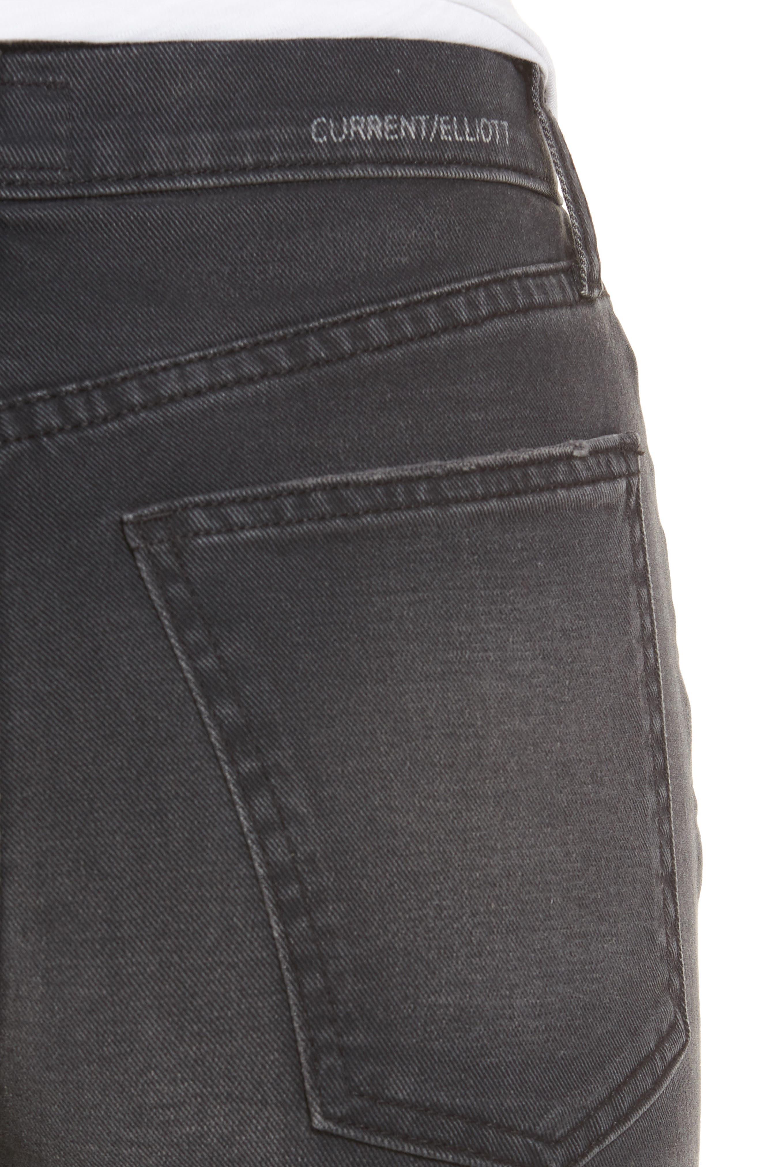 The Kick High Waist Crop Flare Jeans,                             Alternate thumbnail 4, color,                             017