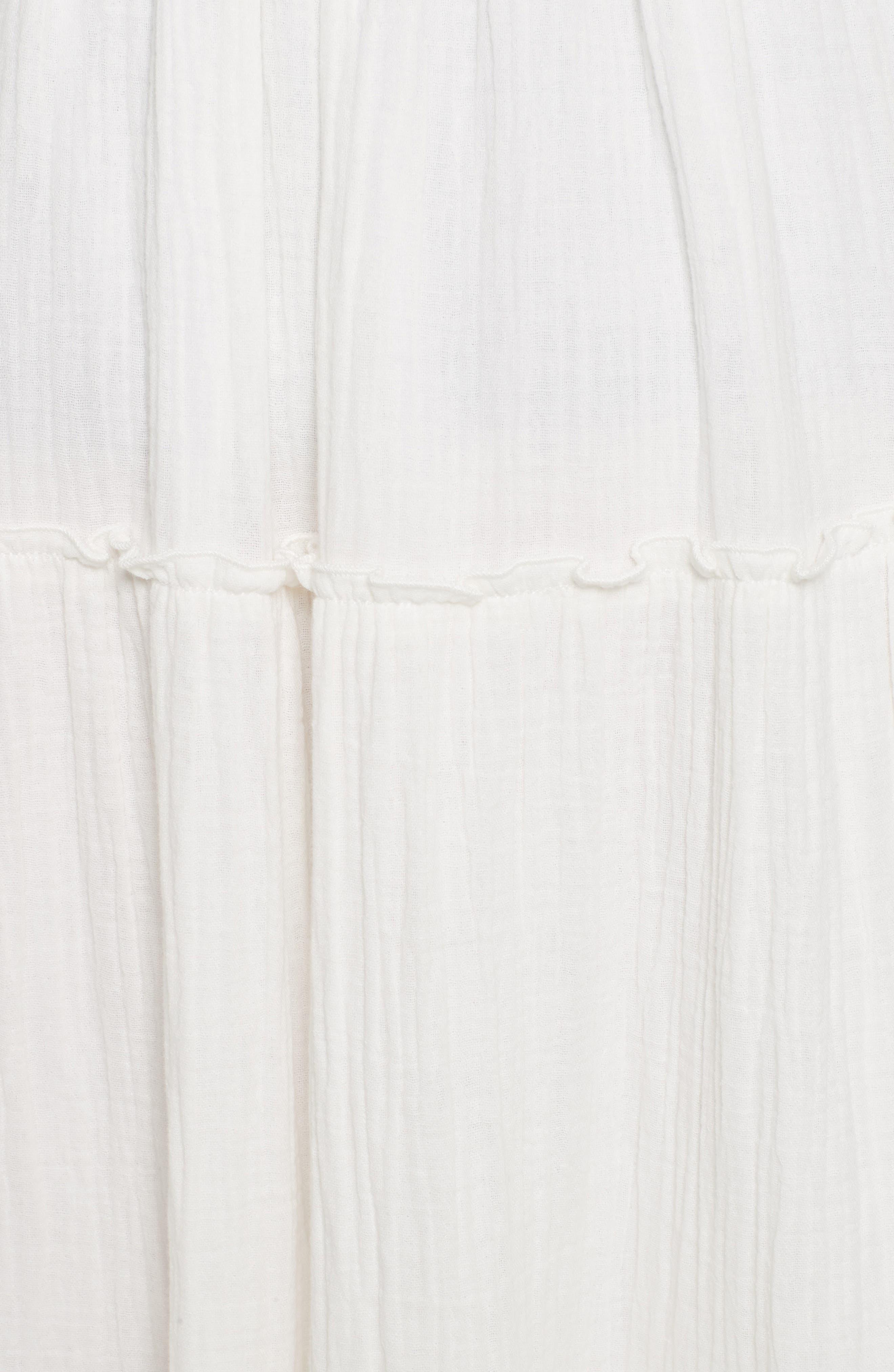 Crinkled Cotton Midi Skirt,                             Alternate thumbnail 5, color,                             101