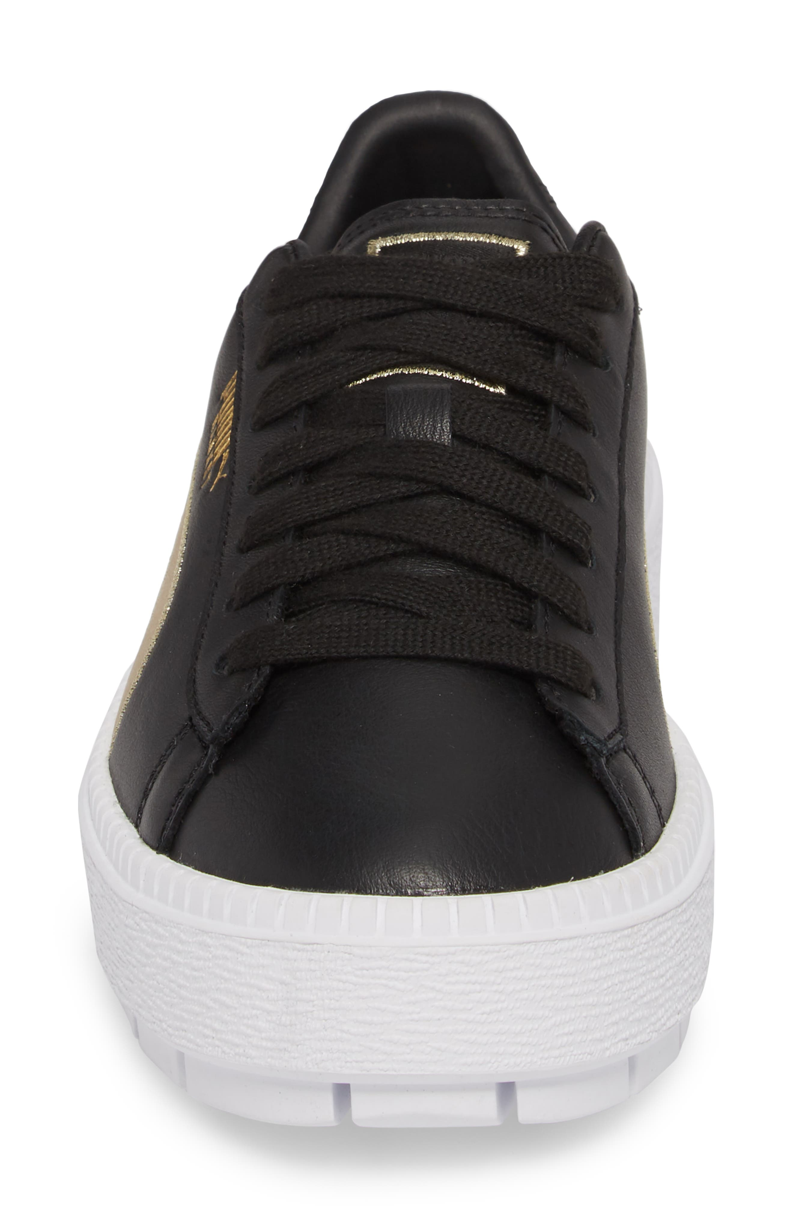 Platform Trace Sneaker,                             Alternate thumbnail 4, color,                             001