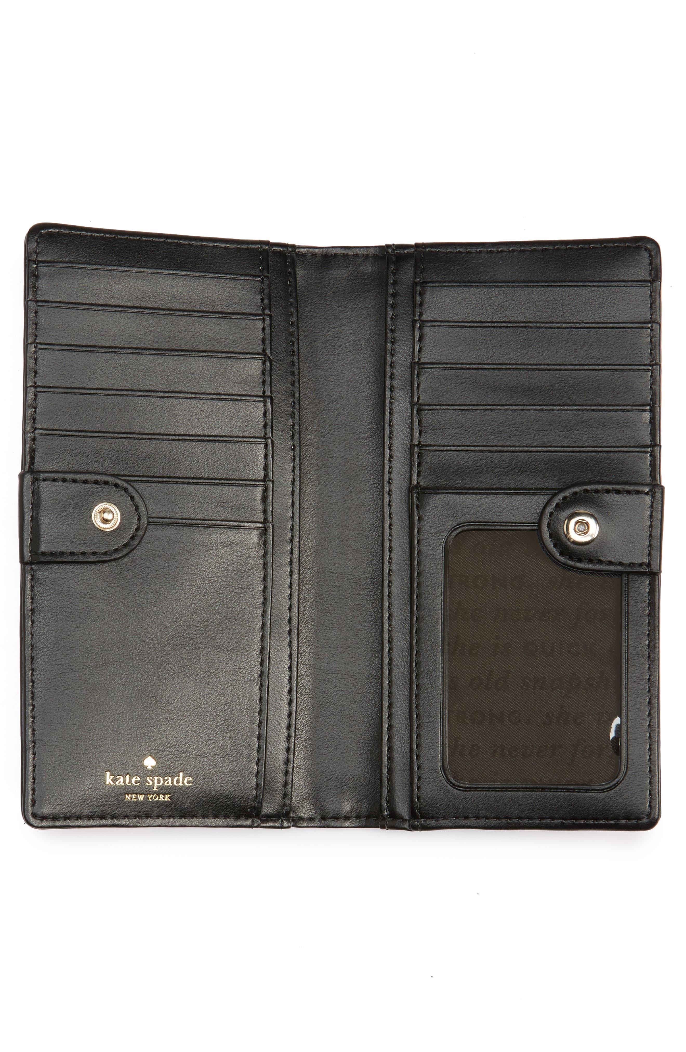 hyde lane - stripe faux leather stacy wallet,                             Alternate thumbnail 2, color,                             001