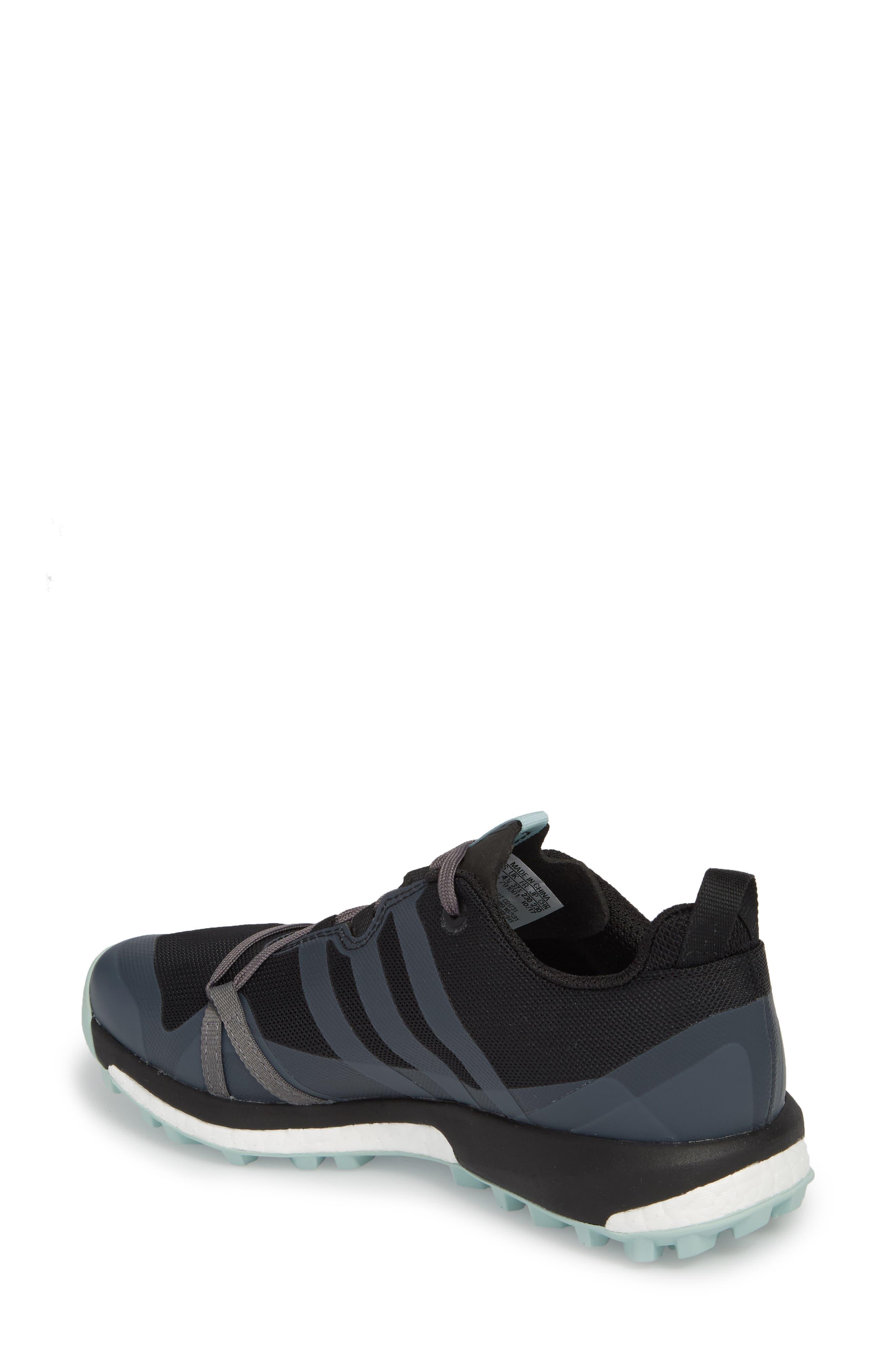 Terrex Agravic Trail Running Shoe,                             Alternate thumbnail 2, color,                             BLACK/ GREY THREE/ ASH GREEN