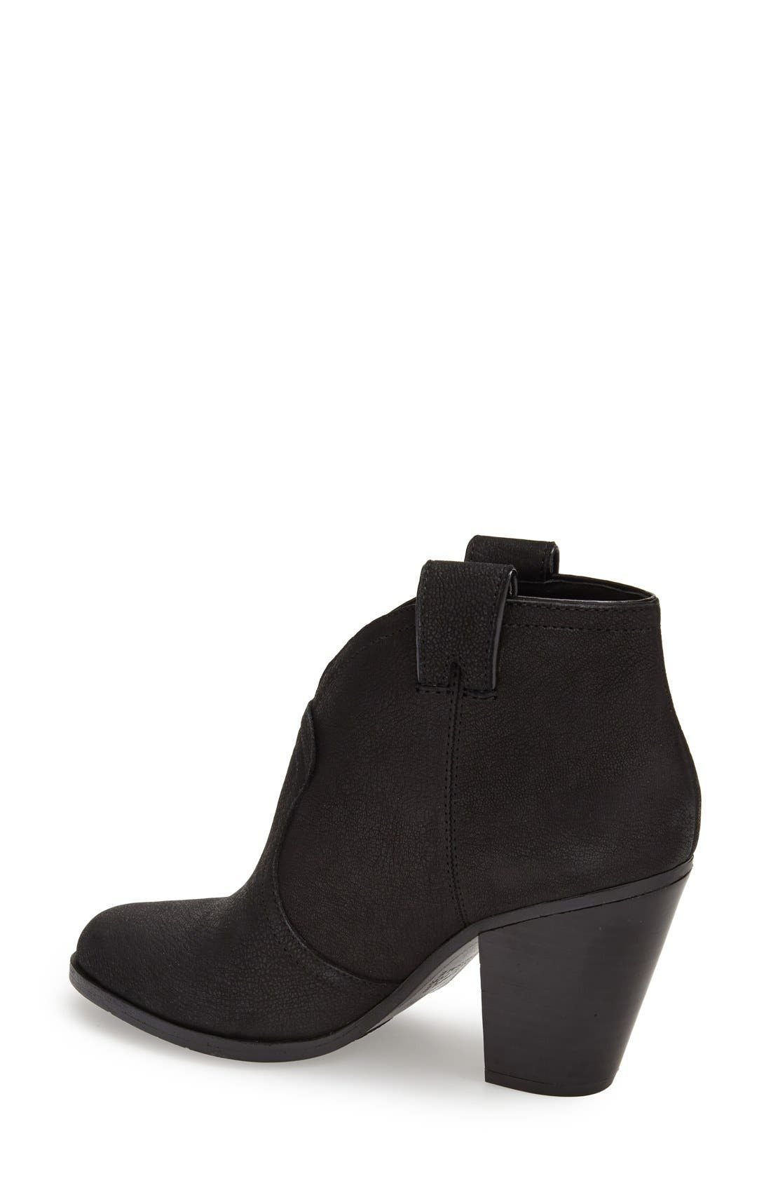 'Hillsy' Almond Toe Ankle Bootie,                             Alternate thumbnail 3, color,                             001