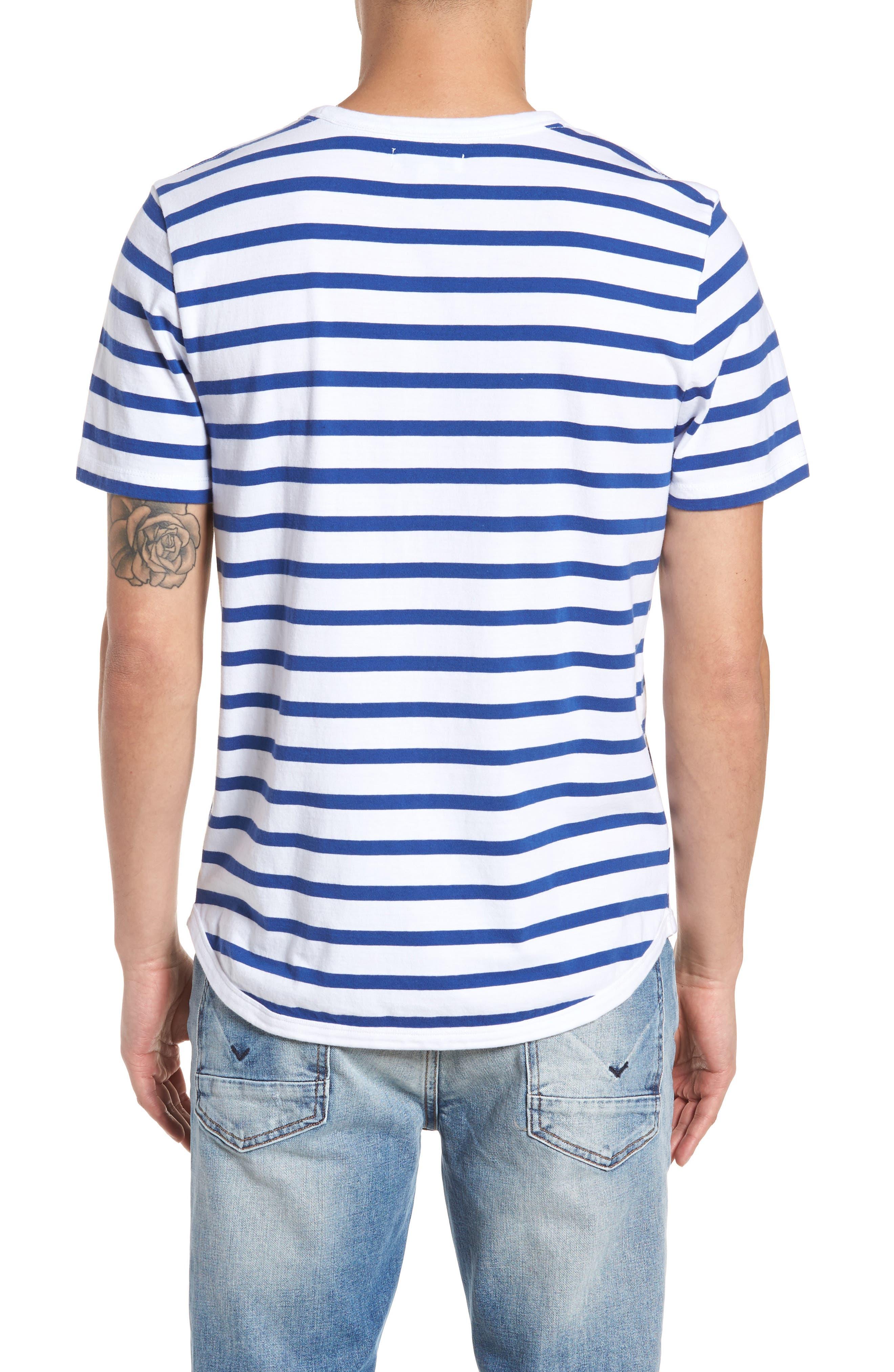 Striped Crewneck T-Shirt,                             Alternate thumbnail 2, color,                             420