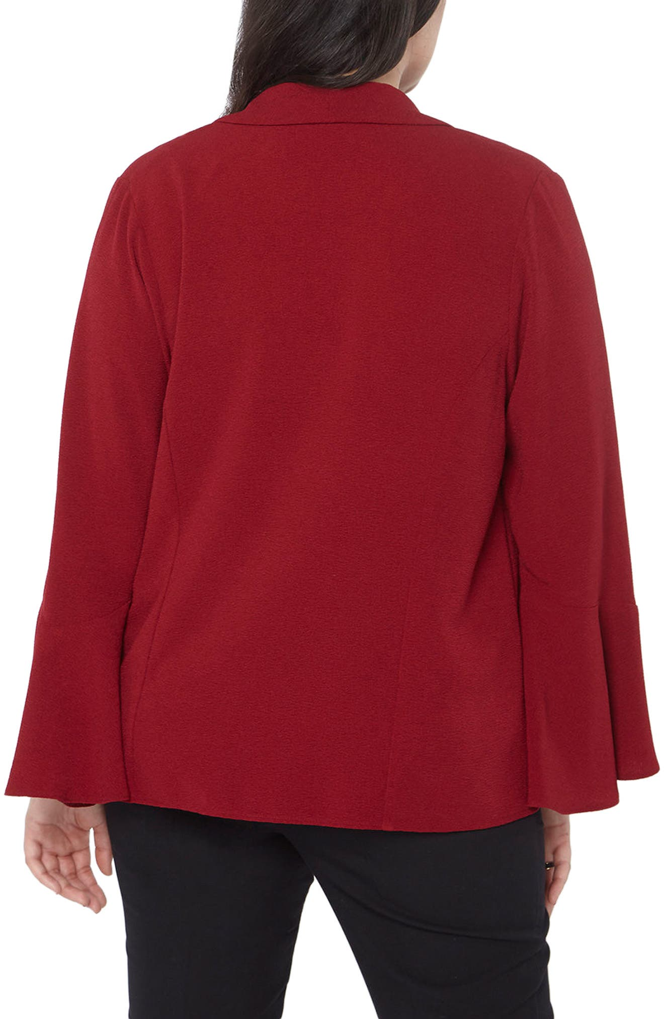 Bell Sleeve Crepe Jacket,                             Alternate thumbnail 2, color,                             600