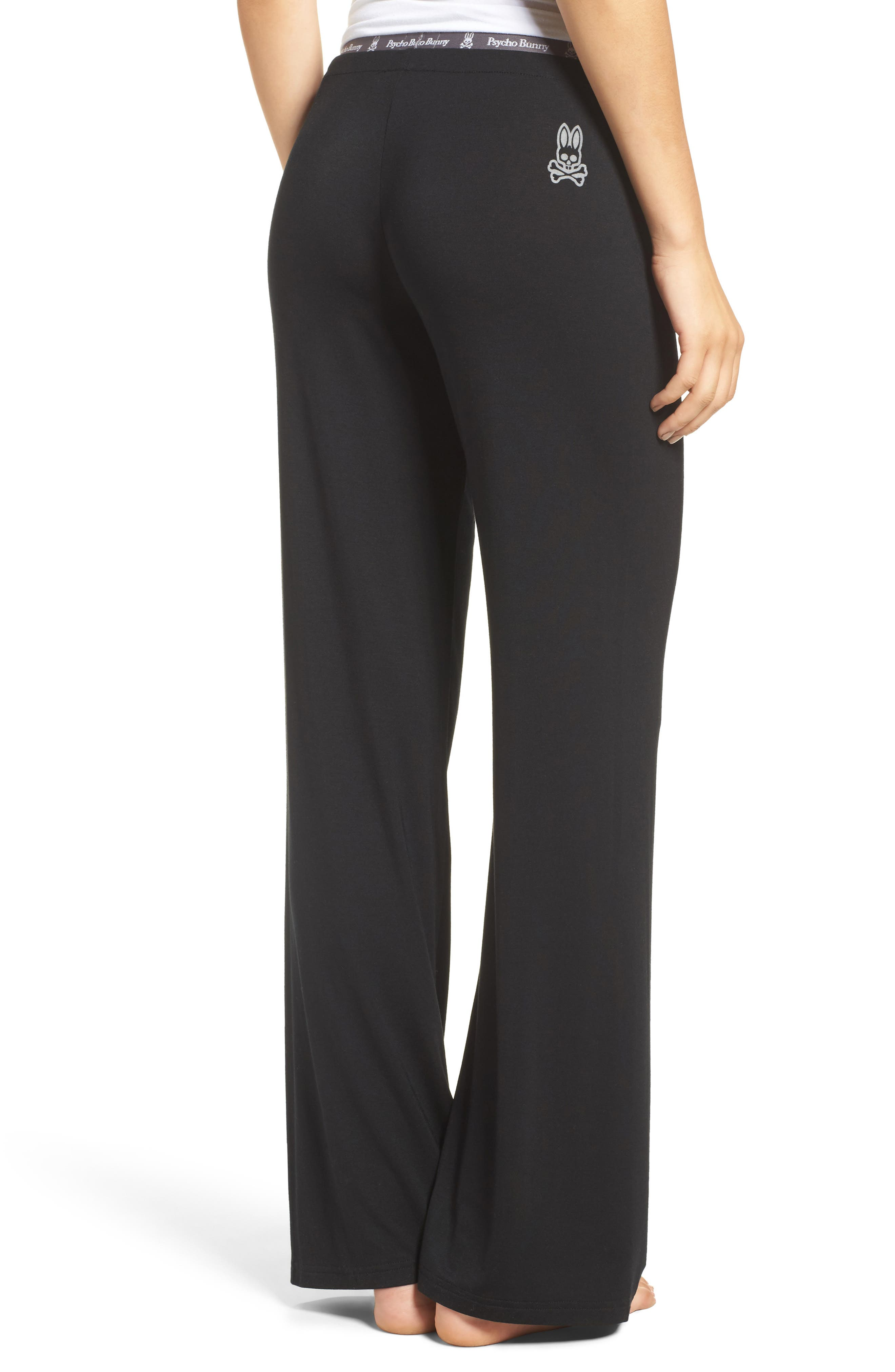 Luxe Jersey Pants,                             Alternate thumbnail 2, color,                             001