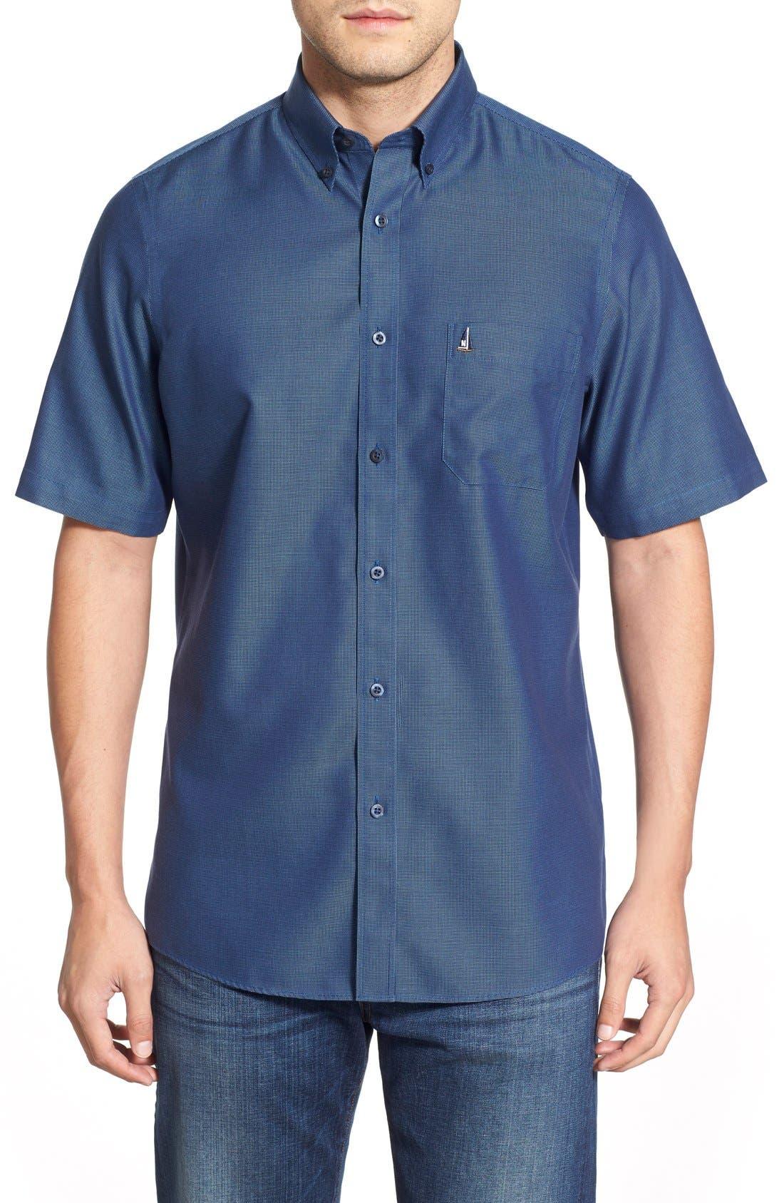 'Classic' Smartcare<sup>™</sup> Regular Fit Short Sleeve Cotton Sport Shirt,                             Main thumbnail 14, color,