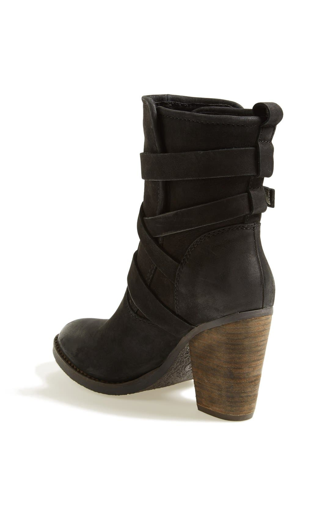 'Yale' Belted Boot,                             Alternate thumbnail 5, color,                             001