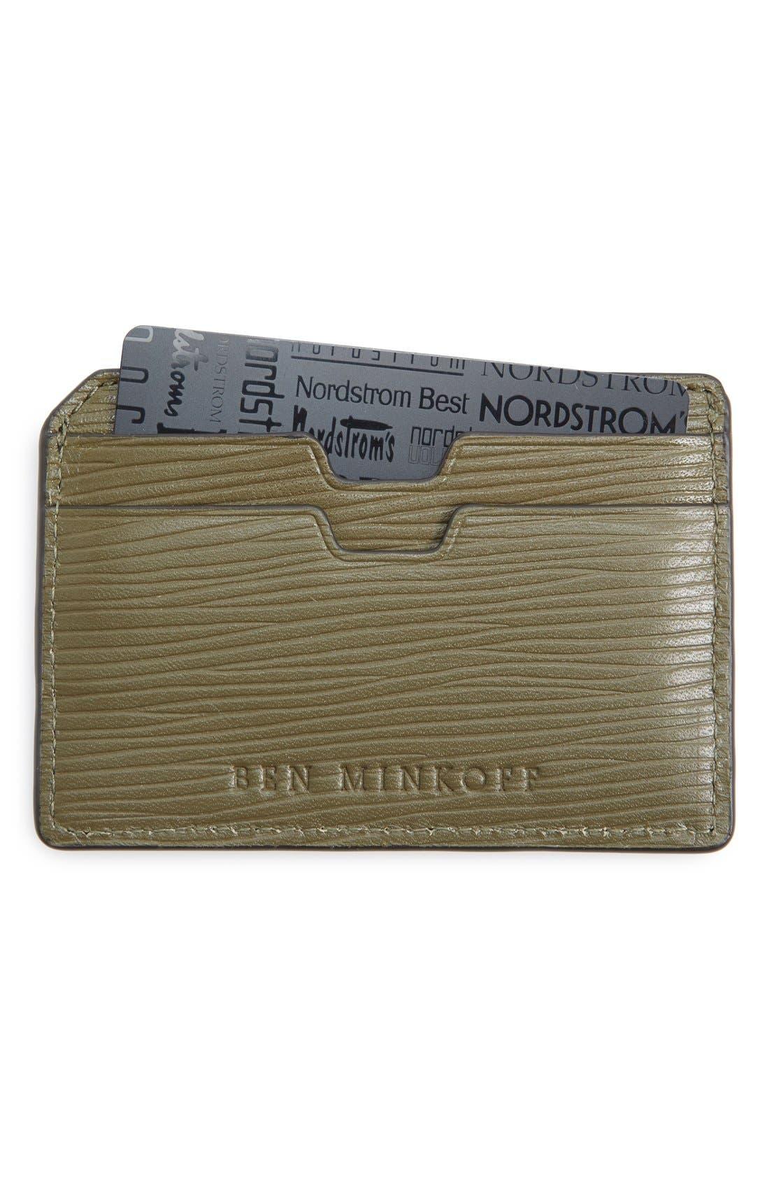 URI MINKOFF Ben Minkoff 'Nikko' Card Case, Main, color, 305