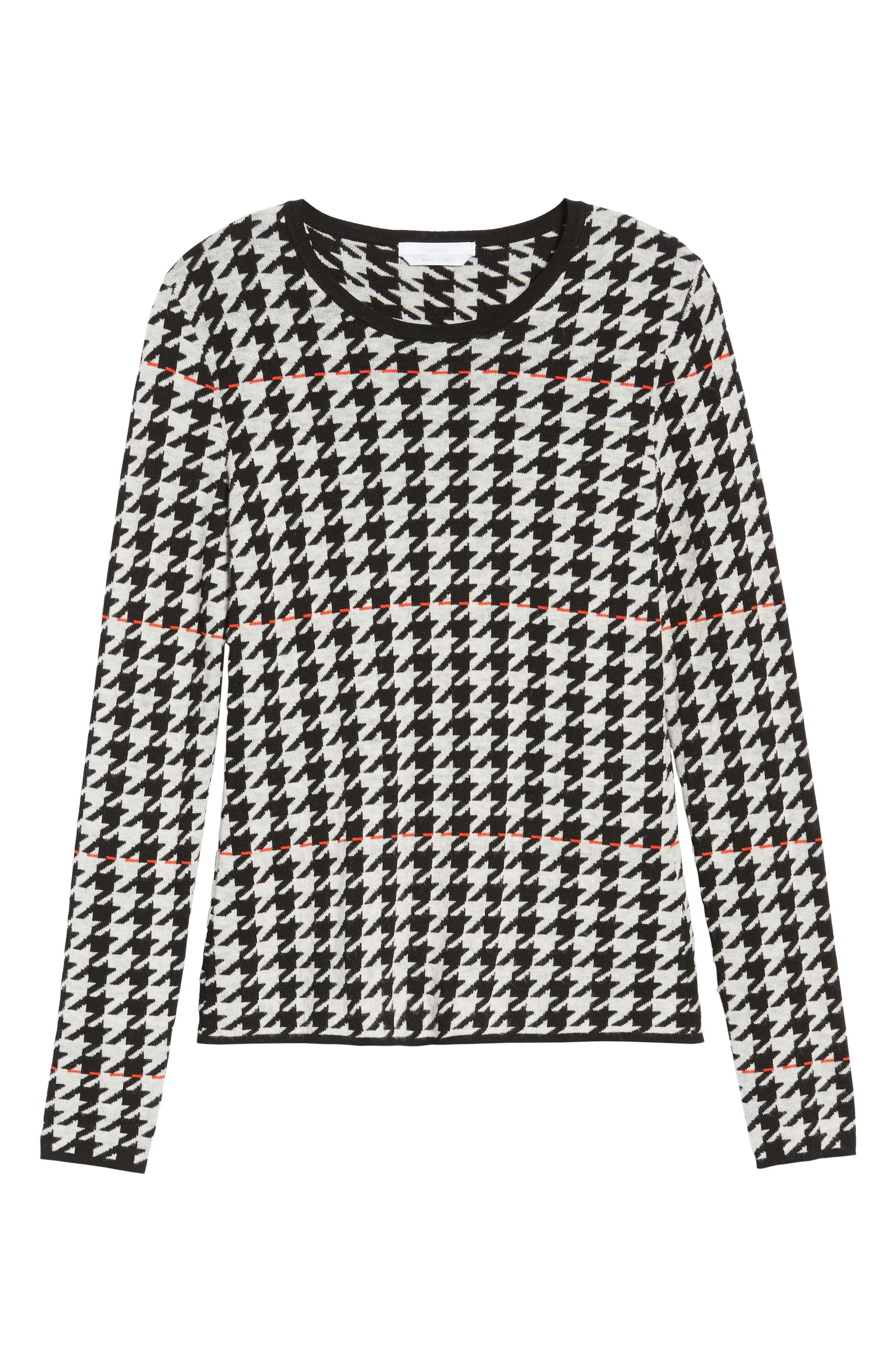 Fatma Houndstooth Sweater,                             Alternate thumbnail 6, color,                             010