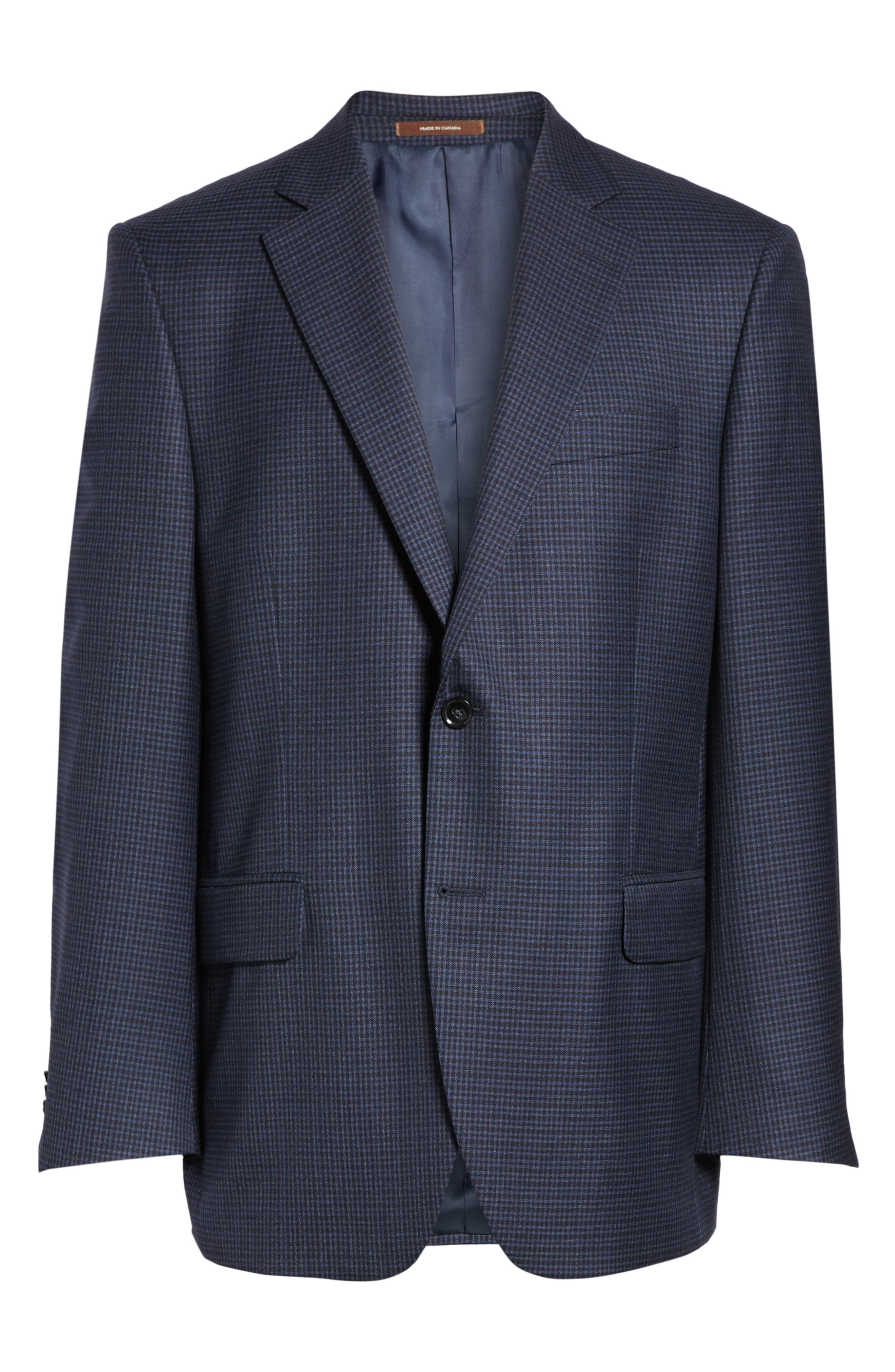 Flynn Classic Fit Check Wool Sport Coat,                             Alternate thumbnail 5, color,                             410