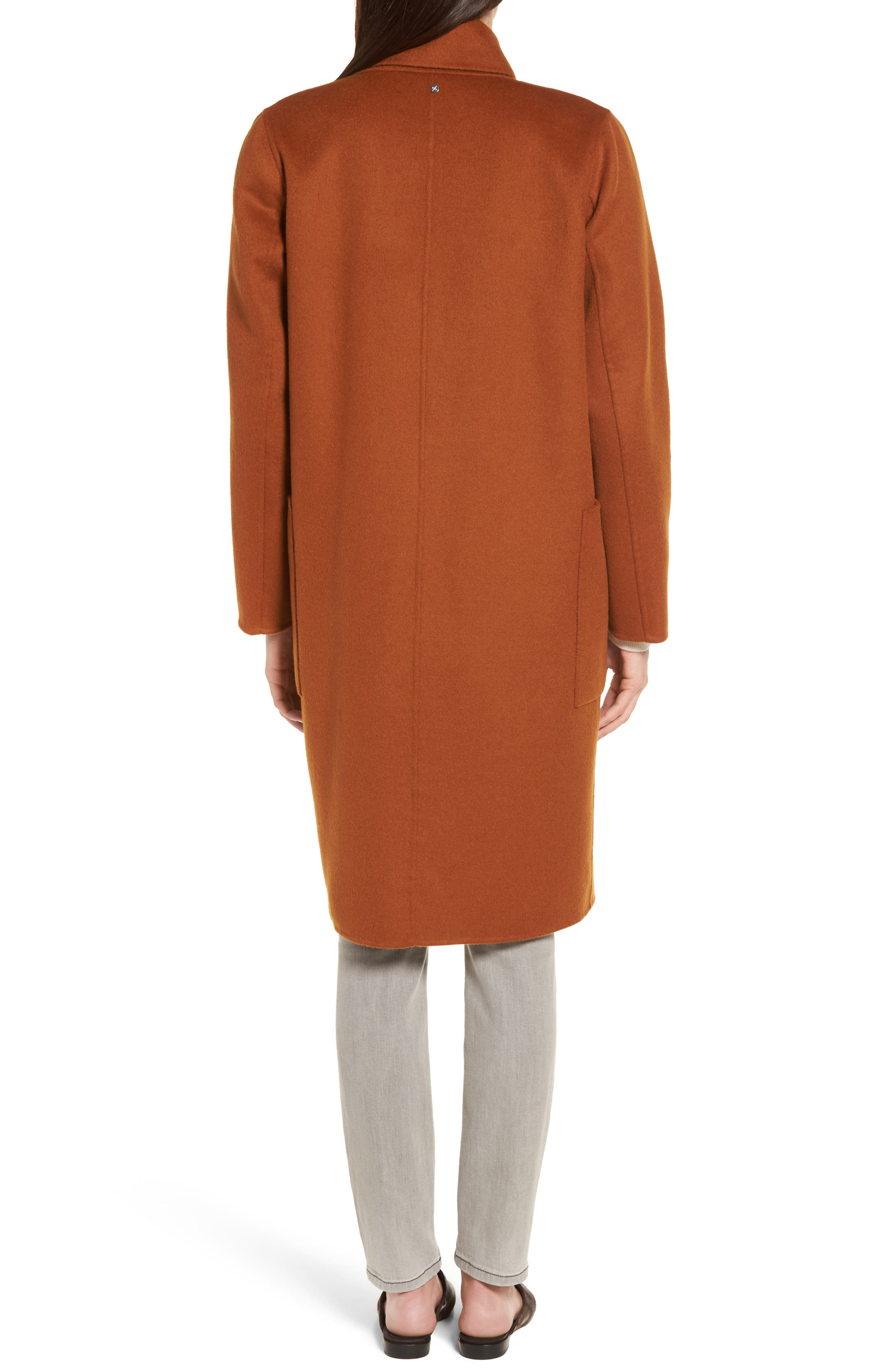 Ellie Notch Wool & Cashmere Duster Coat,                             Alternate thumbnail 2, color,                             200