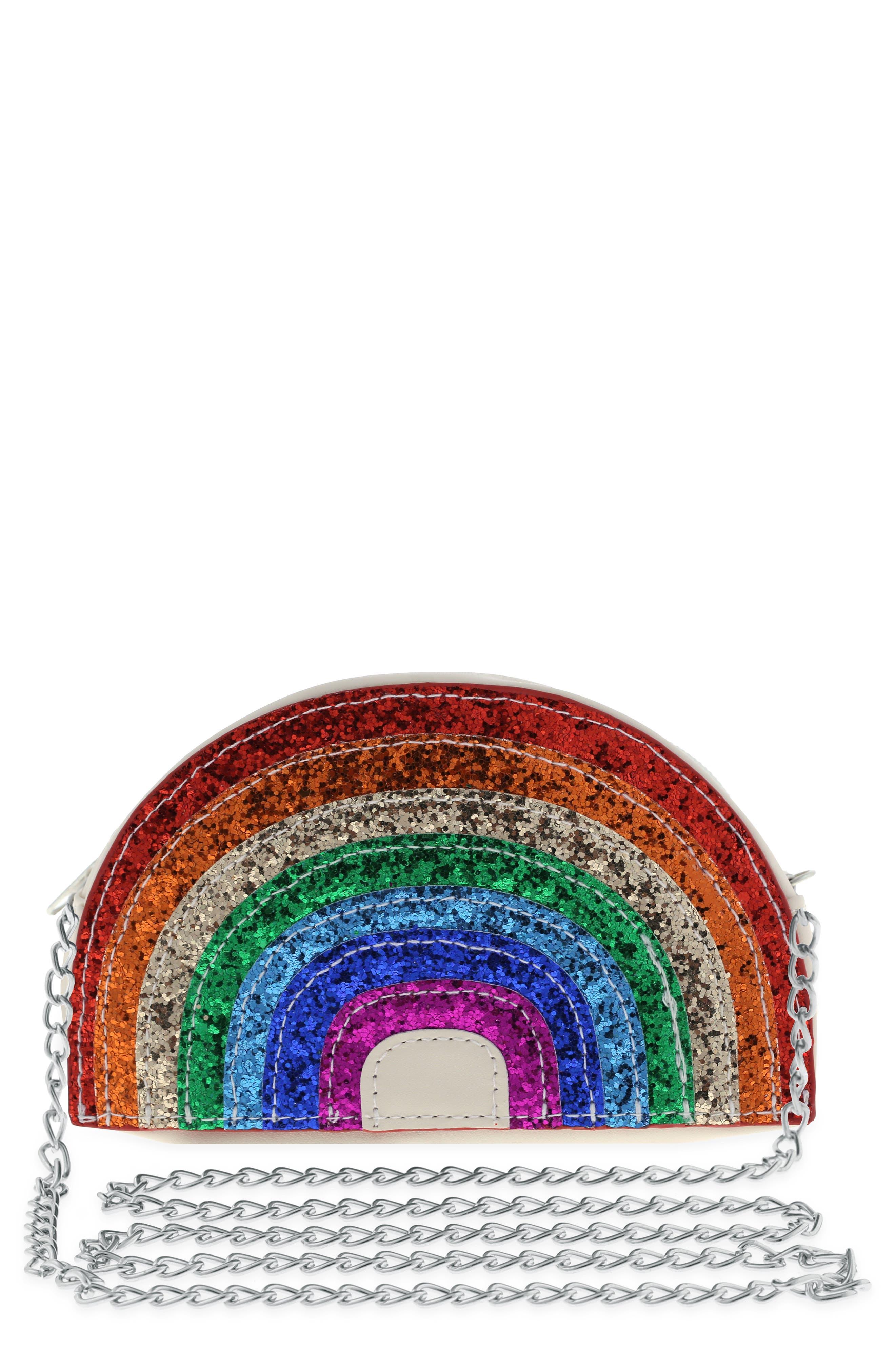 Glitter Rainbow Bag,                             Main thumbnail 1, color,                             600