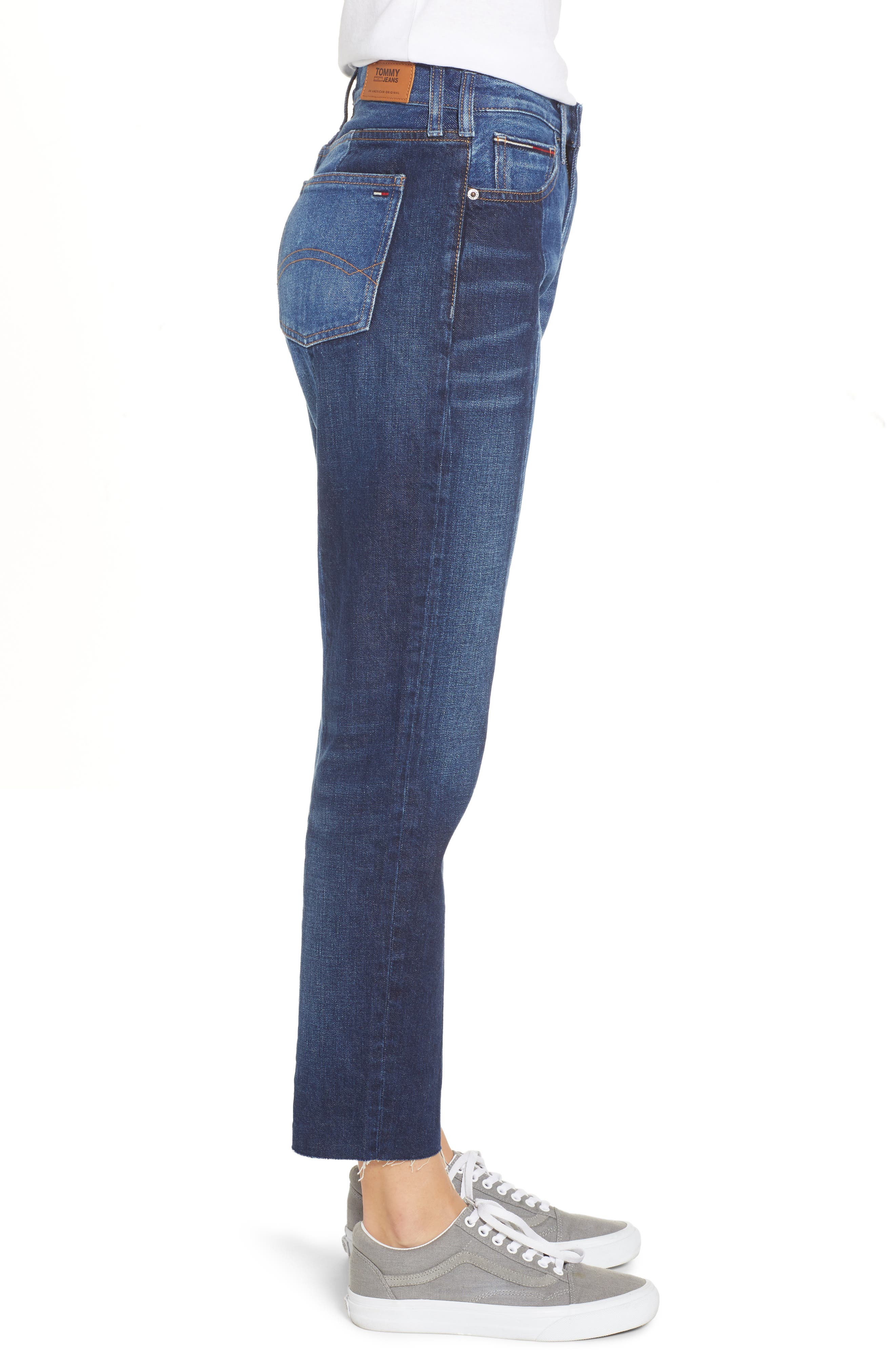 Izzy Paneled Slim Ankle Jeans,                             Alternate thumbnail 3, color,                             TOMMY JEAN NEW COMBO