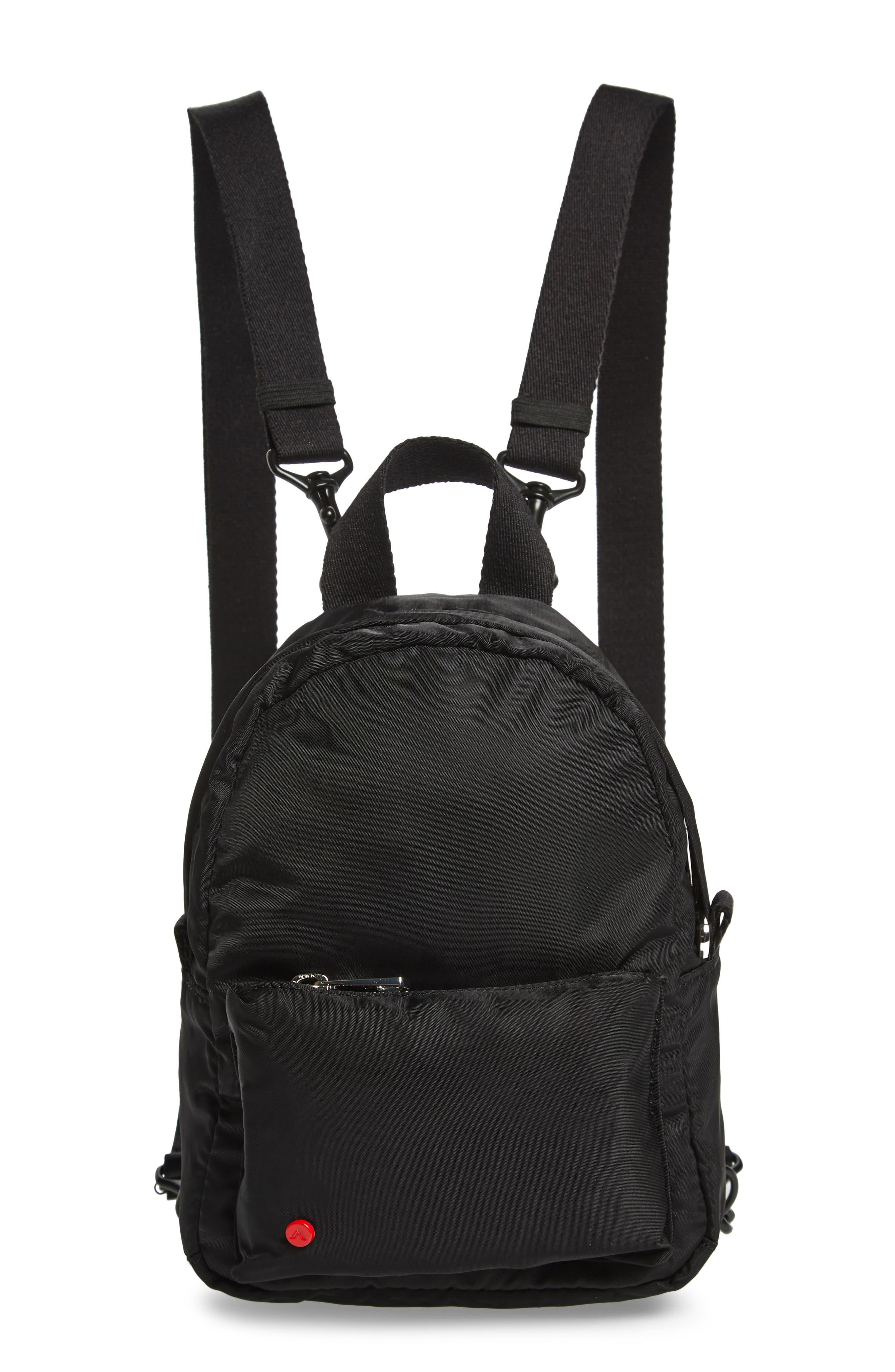 Mini Hart Convertible Nylon Backpack,                             Main thumbnail 1, color,                             BLACK