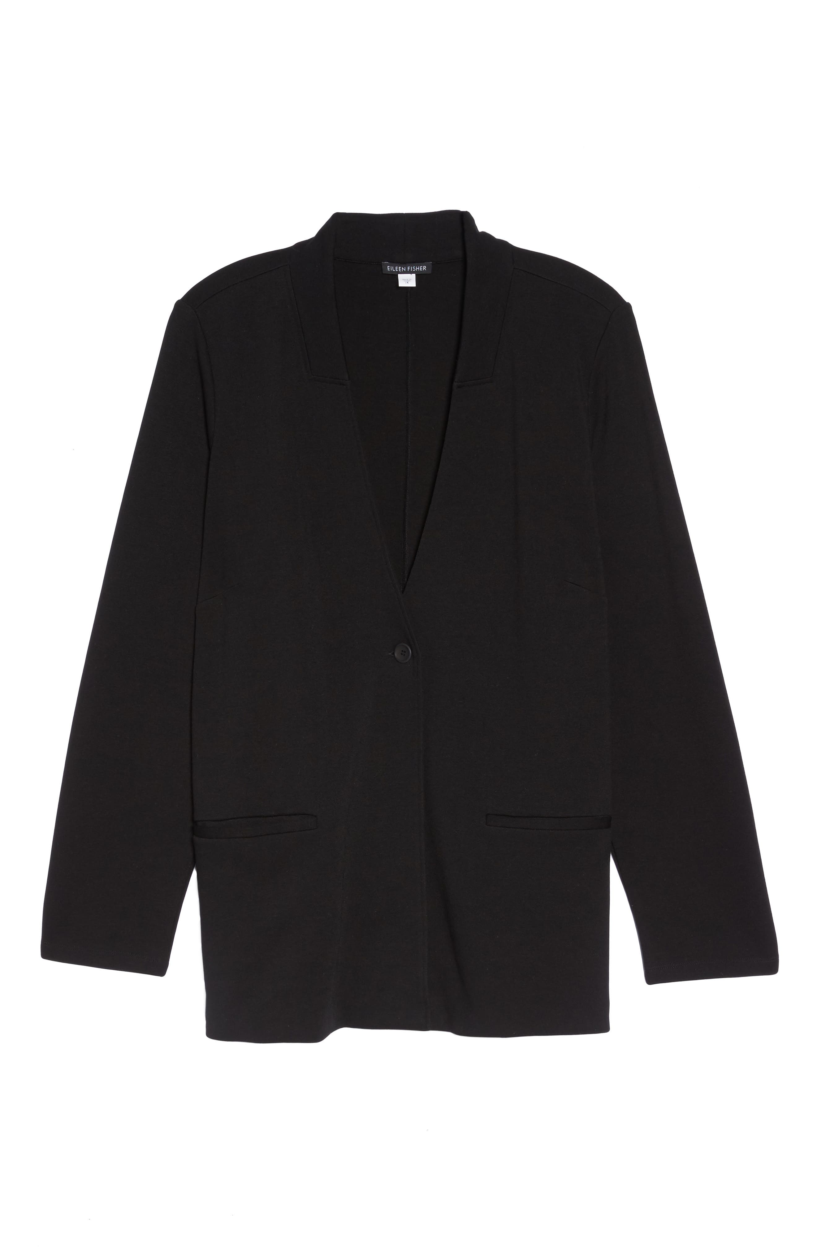 Stand Collar Blazer,                             Alternate thumbnail 9, color,