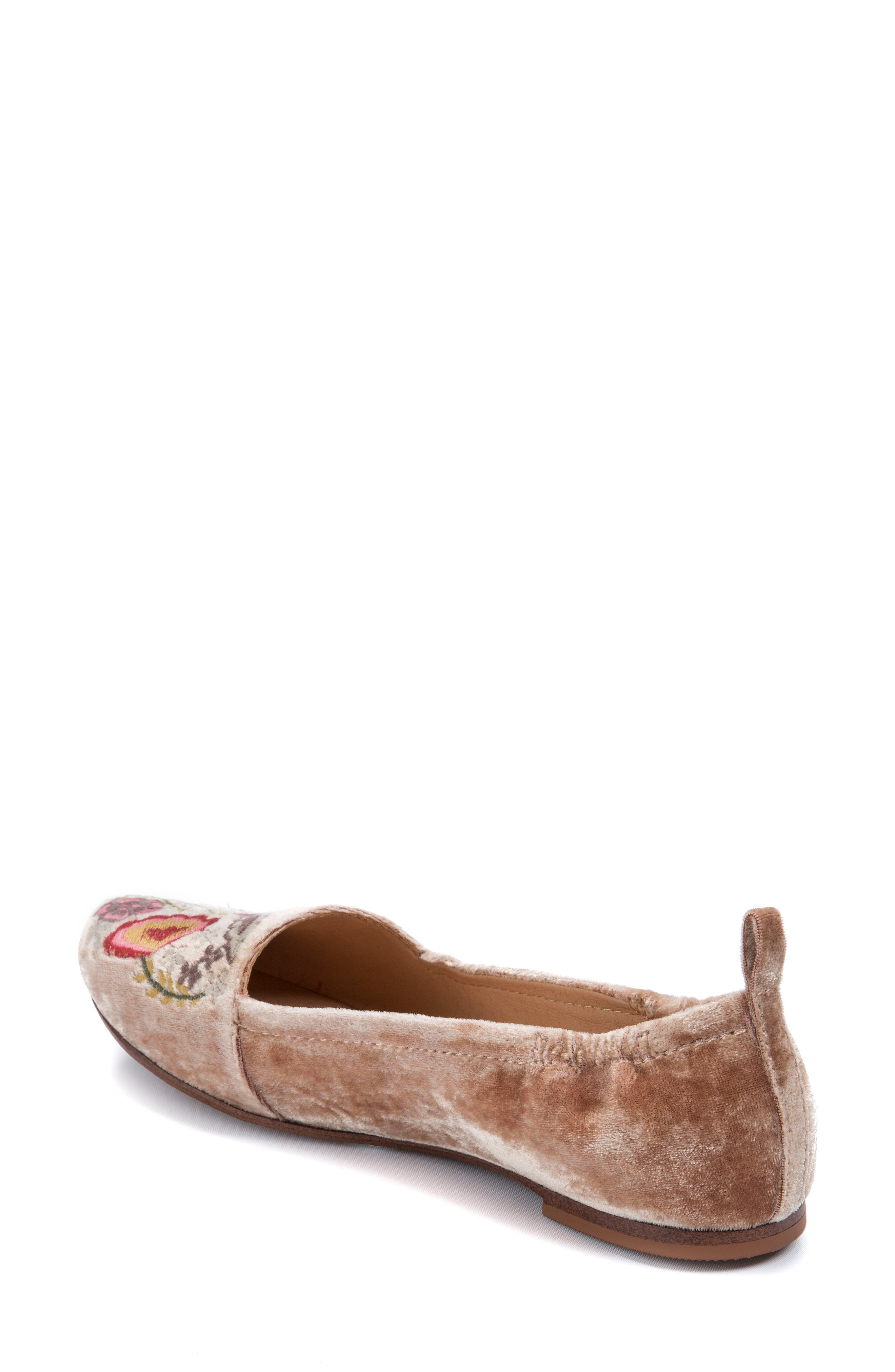 Gayla Floral Embroidered Flat,                             Alternate thumbnail 6, color,