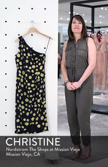 Polka Dot One-Shoulder Silk Dress, sales video thumbnail