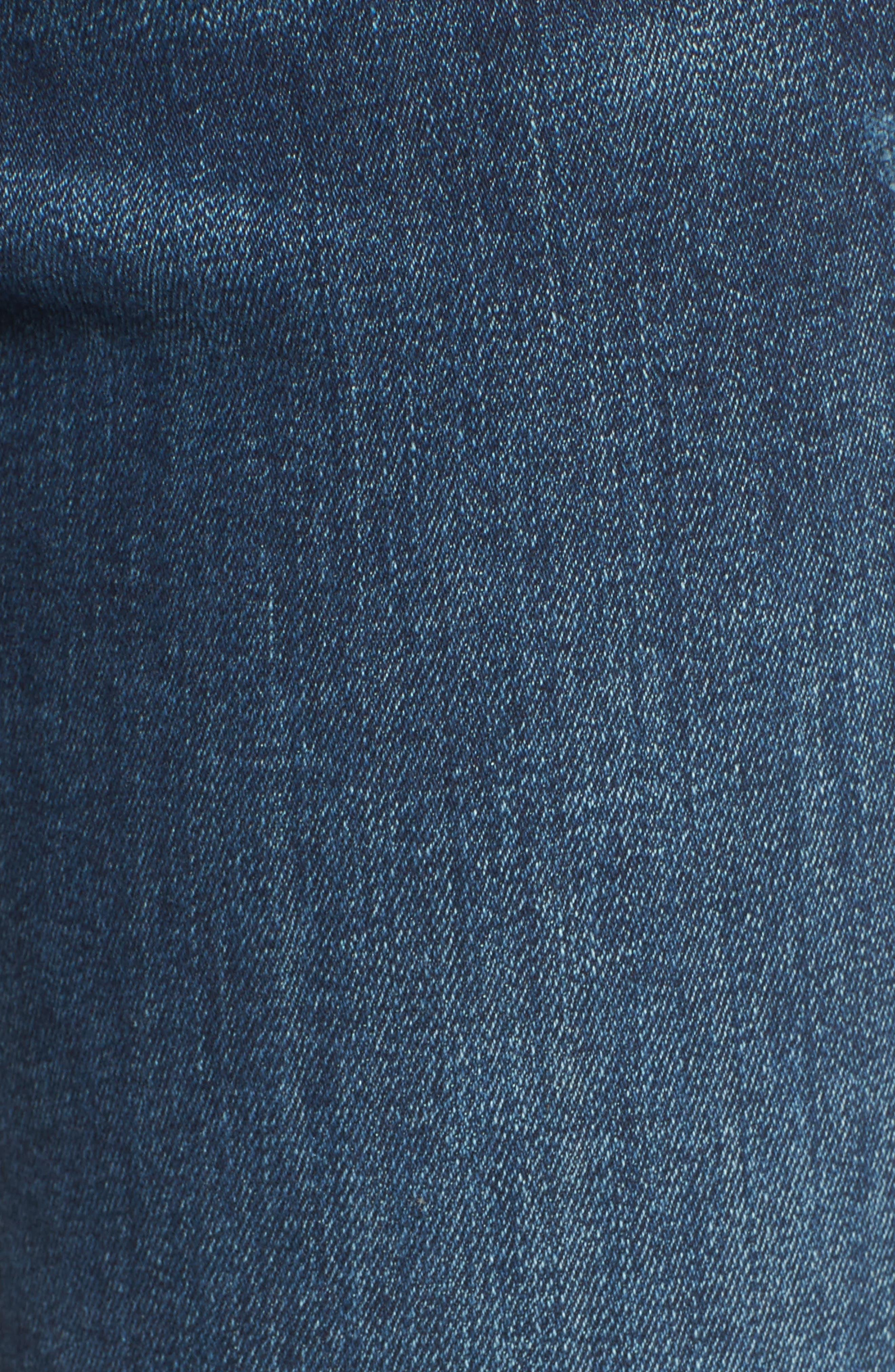 Mara Ankle Straight Leg Jeans,                             Alternate thumbnail 6, color,                             RAVINE
