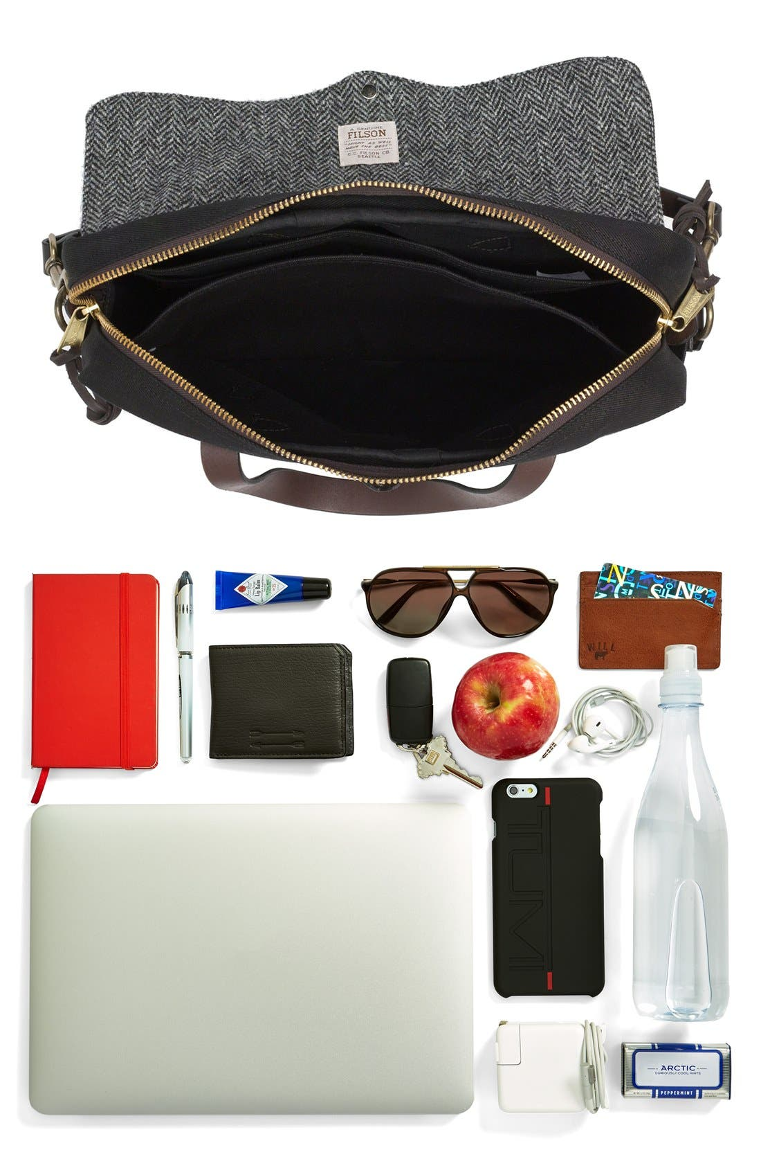 'Original' Twill Briefcase,                             Alternate thumbnail 4, color,                             001