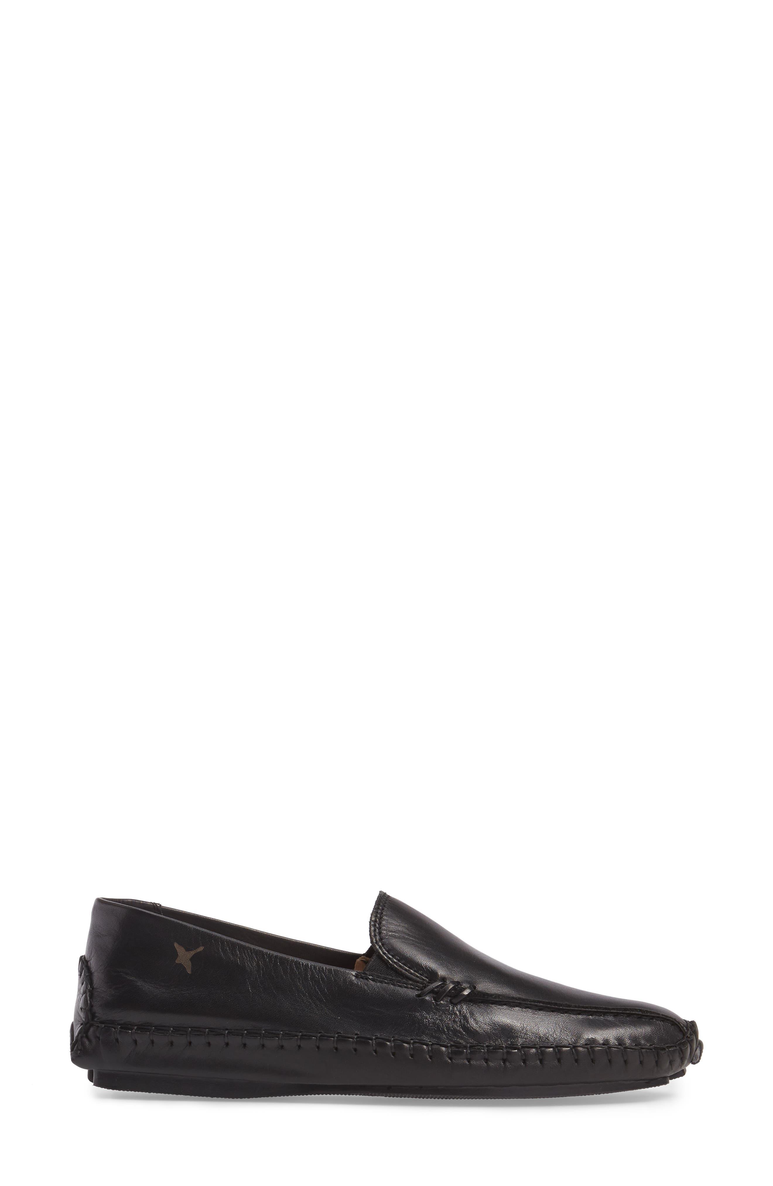 Jerez Loafer,                             Alternate thumbnail 3, color,                             BLACK LEATHER