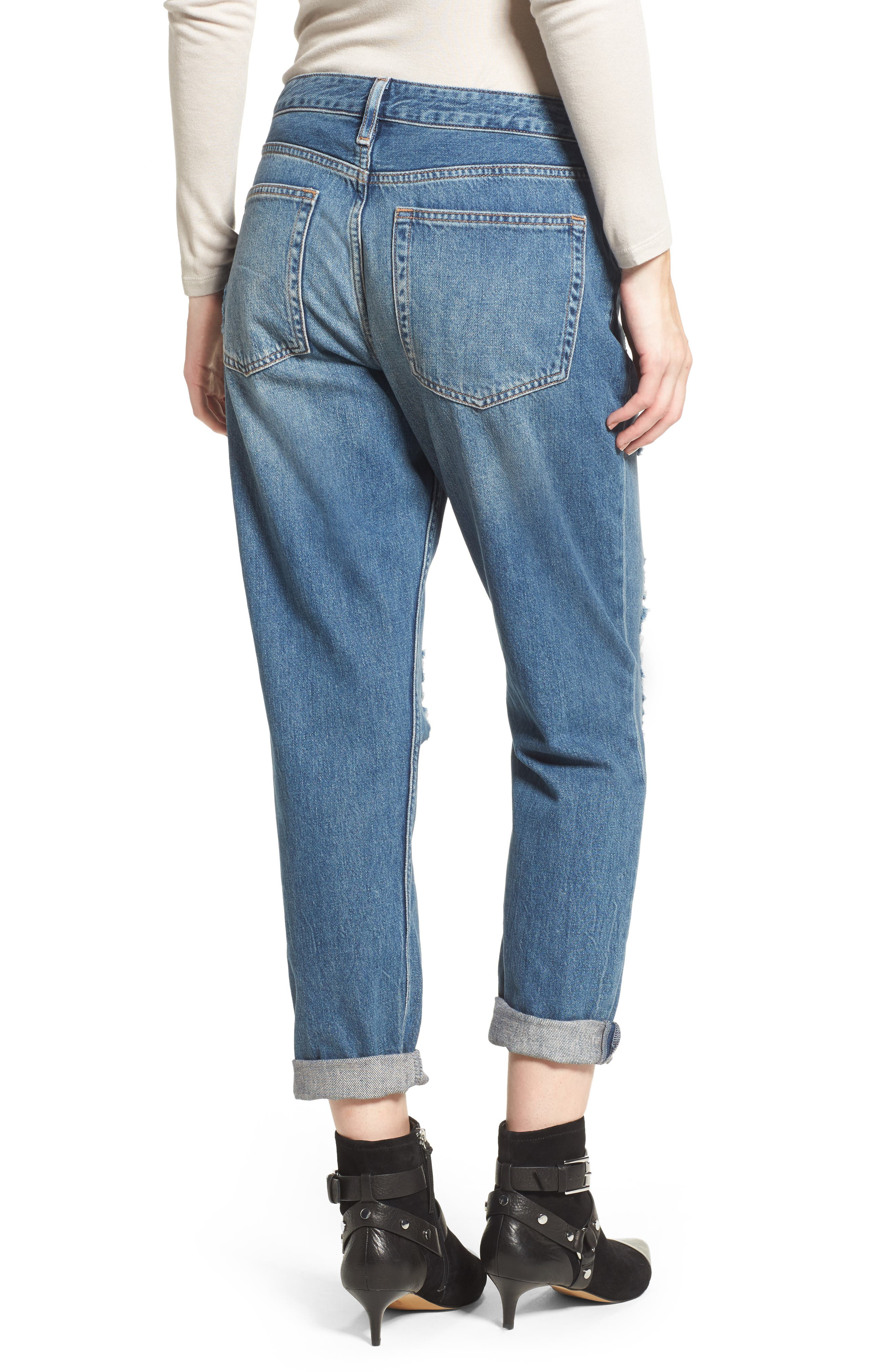 Hayden Super Ripped Boyfriend Jeans,                             Alternate thumbnail 2, color,