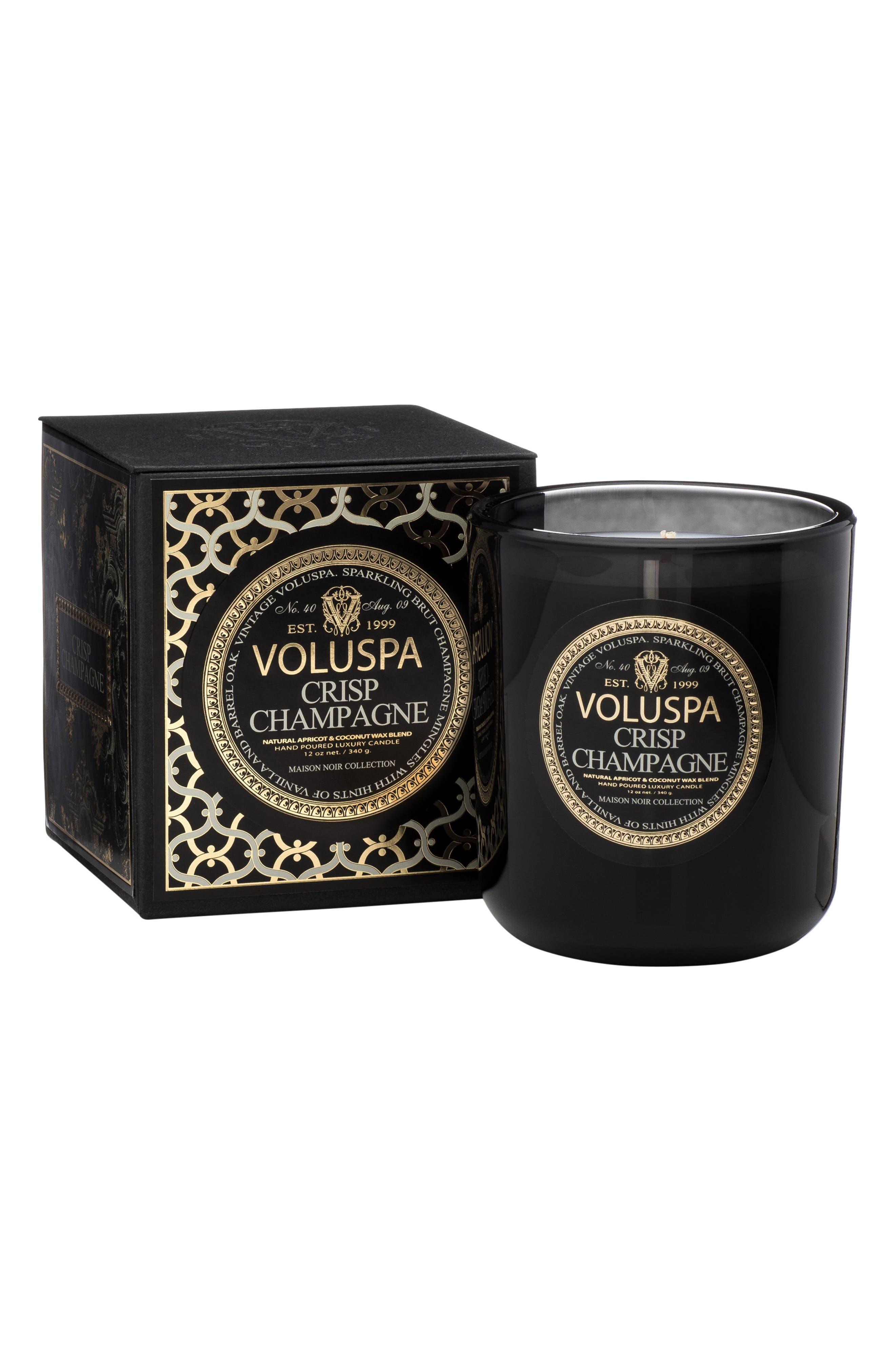 VOLUSPA,                             Maison Noir Crisp Champagne Classic Maison Candle,                             Alternate thumbnail 2, color,                             NO COLOR